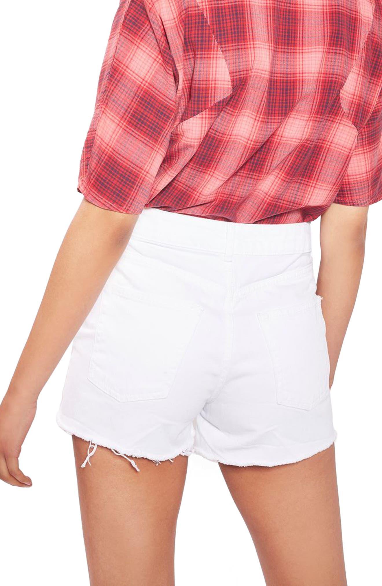 Mom Shorts,                             Alternate thumbnail 3, color,                             White