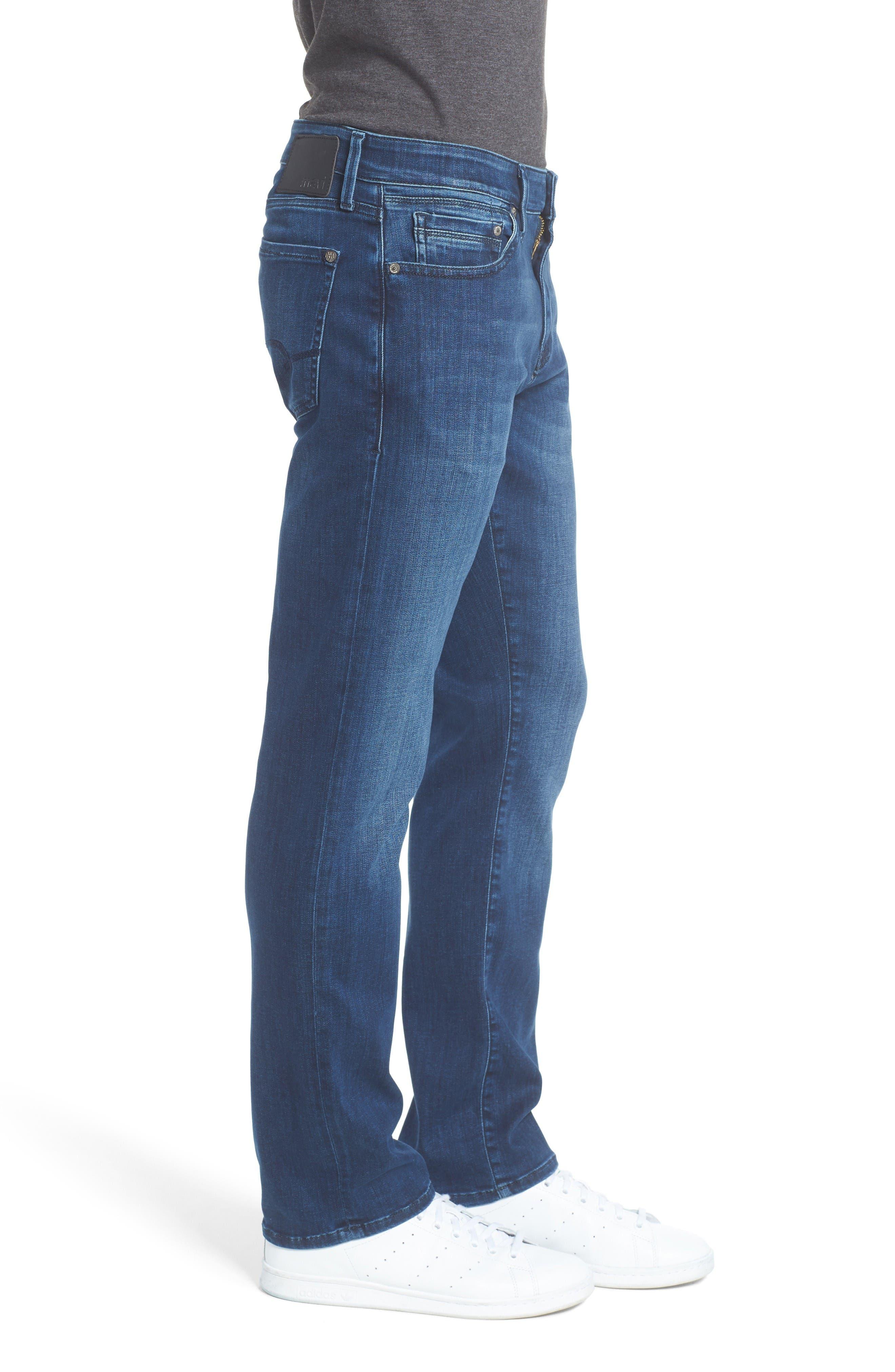 Zach Straight Leg Jeans,                             Alternate thumbnail 3, color,                             Mid Comfort