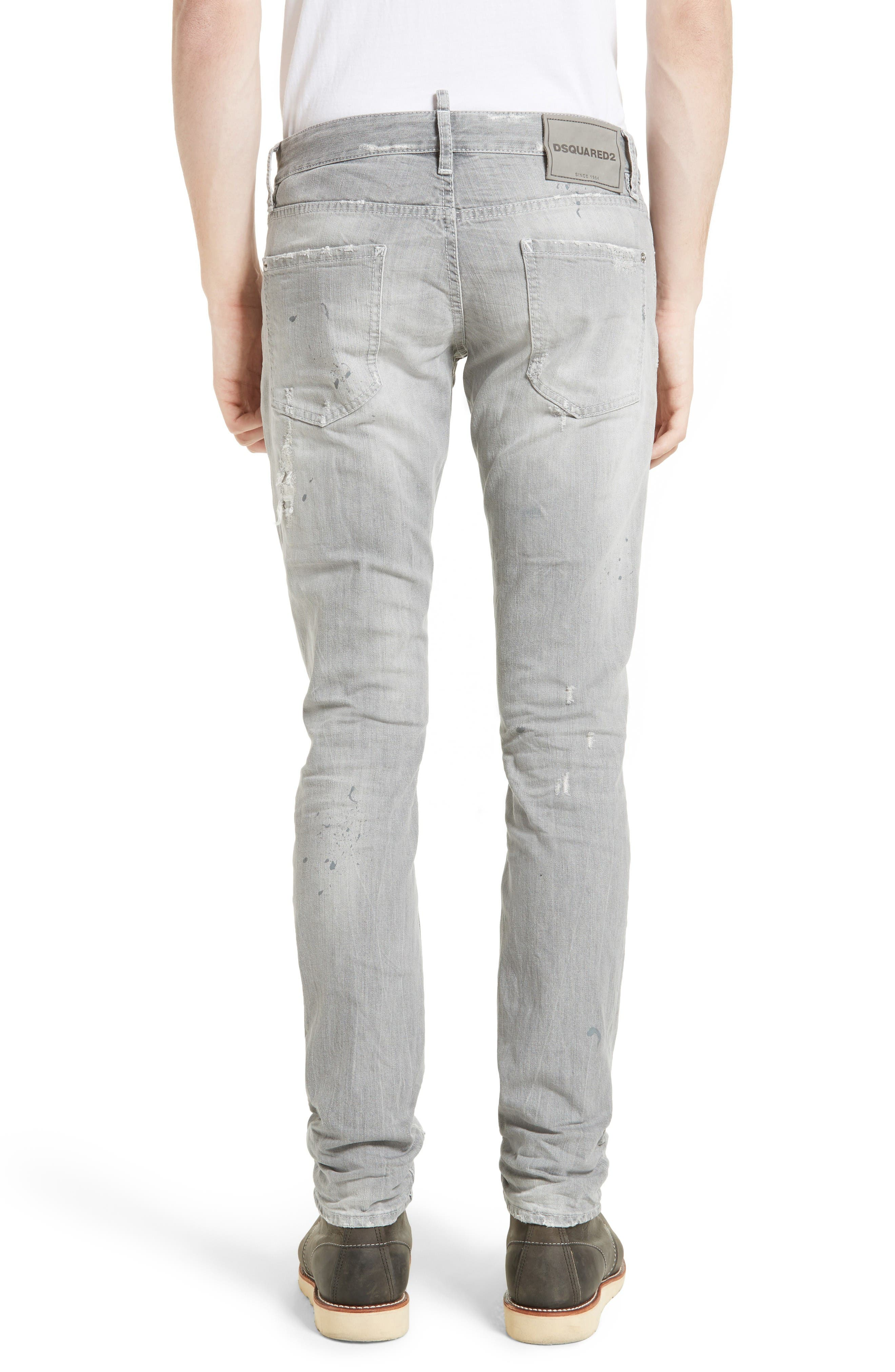 Grey Slim Fit Jeans,                             Alternate thumbnail 2, color,                             Grey