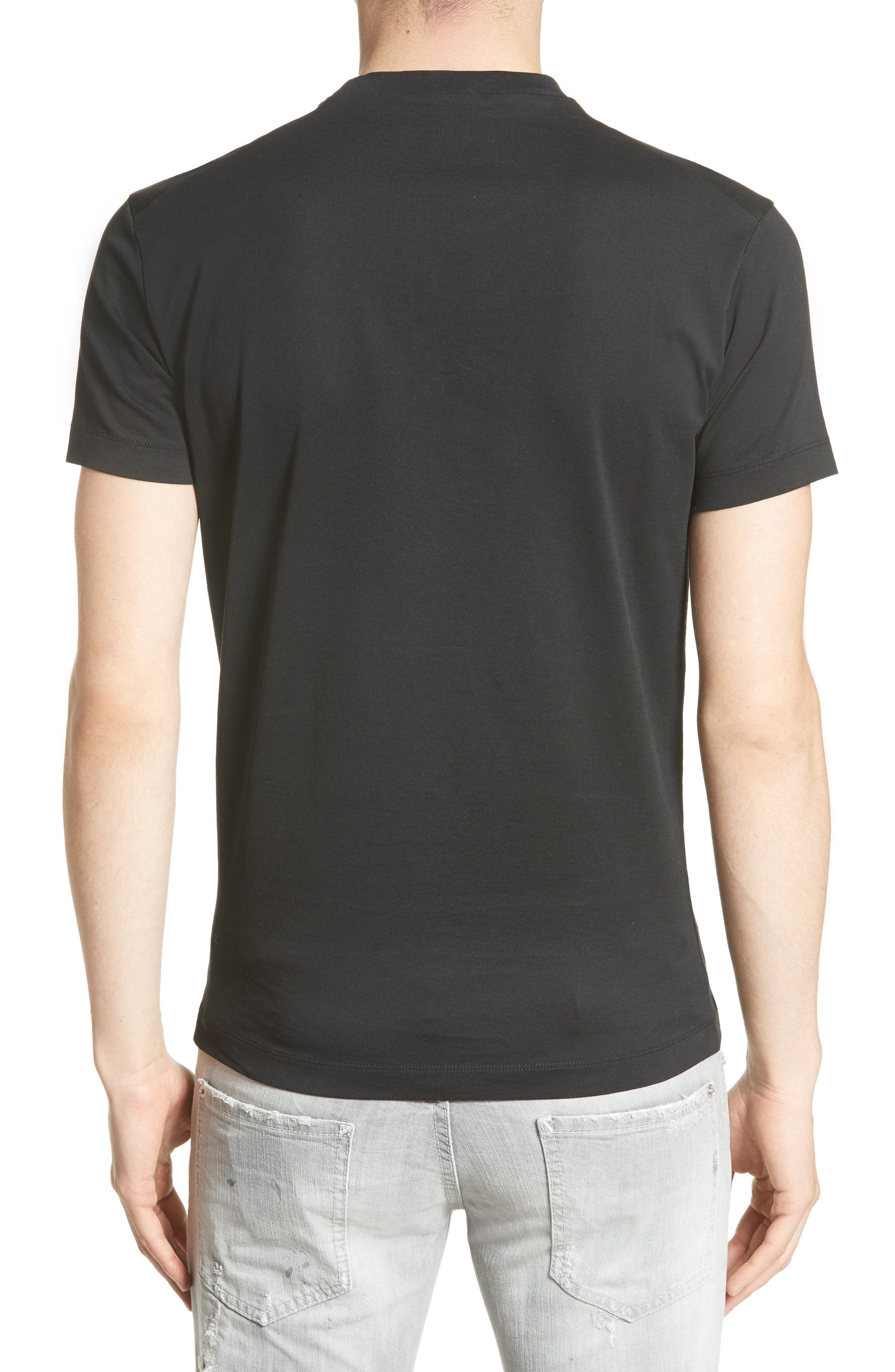 Topographic Graphic T-Shirt,                             Alternate thumbnail 2, color,                             Black