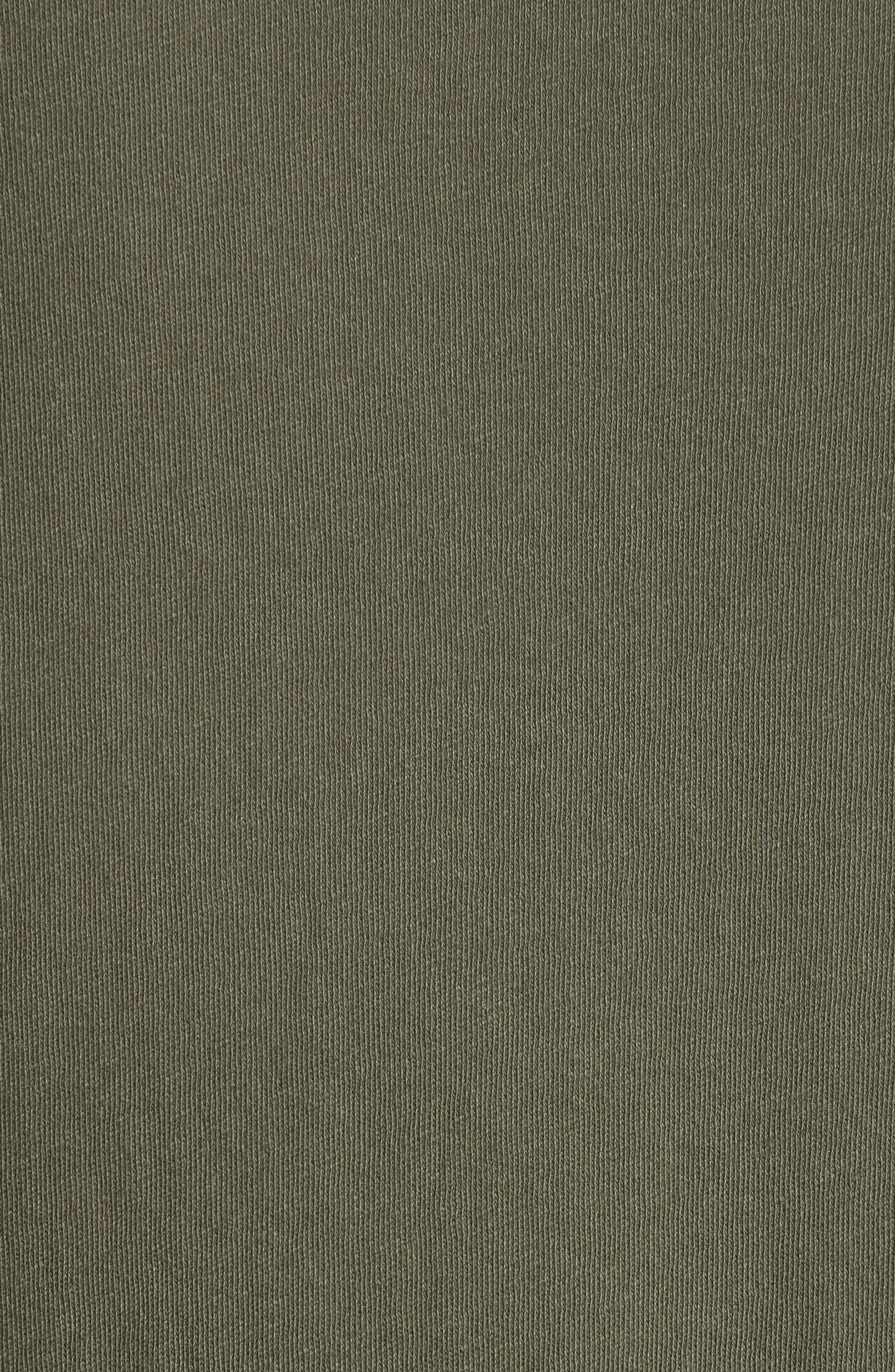 Hartley Cotton & Linen T-Shirt,                             Alternate thumbnail 5, color,                             Dark Olive