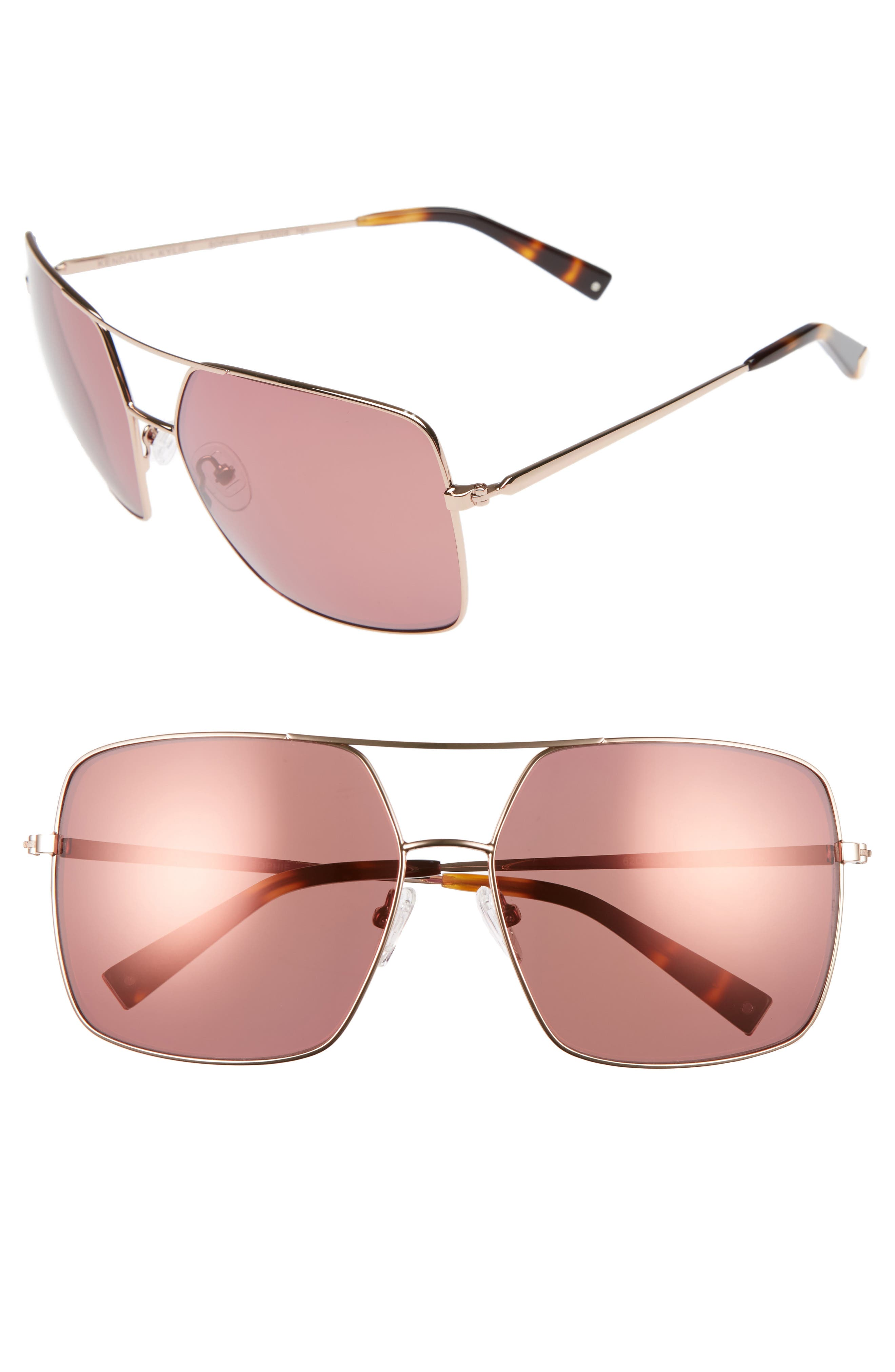 KENDALL + KYLIE 65mm Navigator Sunglasses