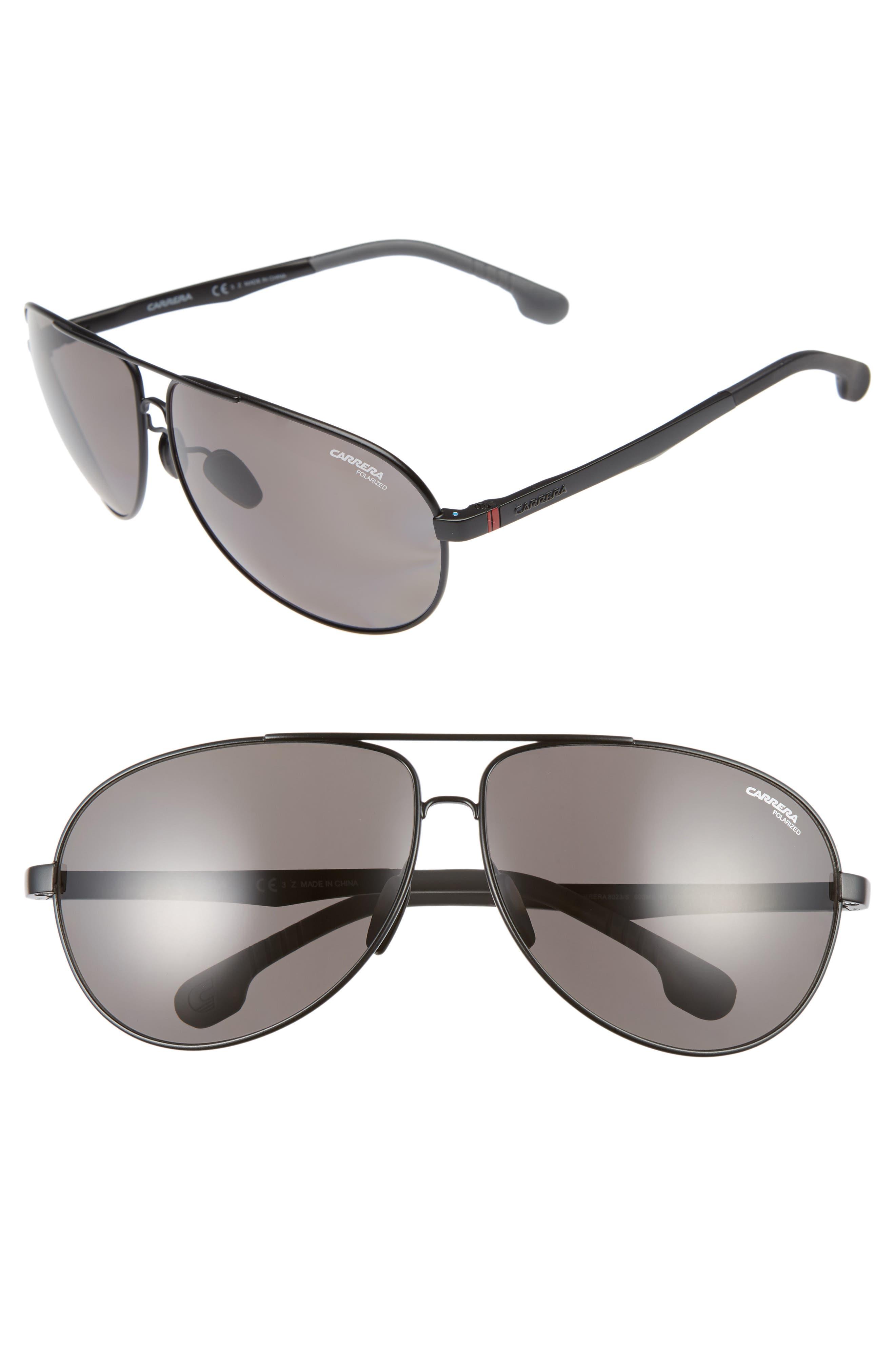 Carrera Eyewear 66mm Polarized Sunglasses