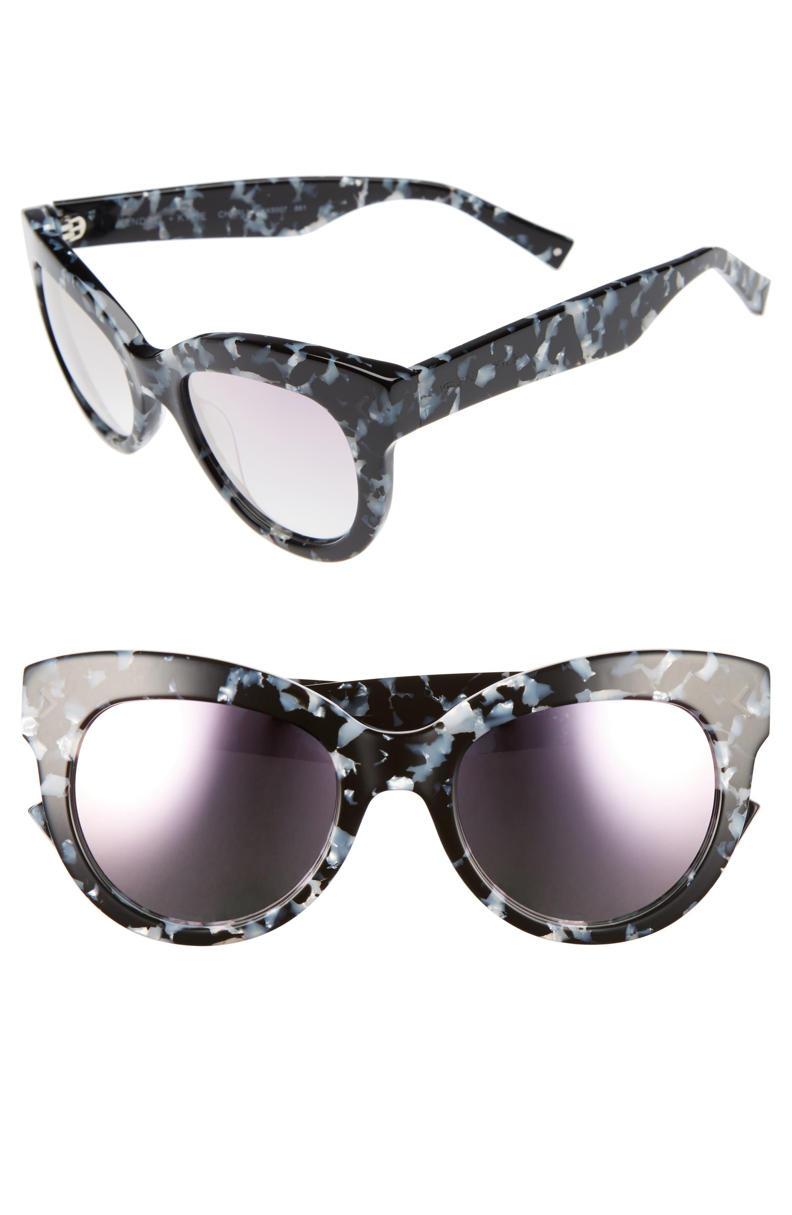 Main Image - KENDALL + KYLIE Charli 52mm Cat Eye Sunglasses