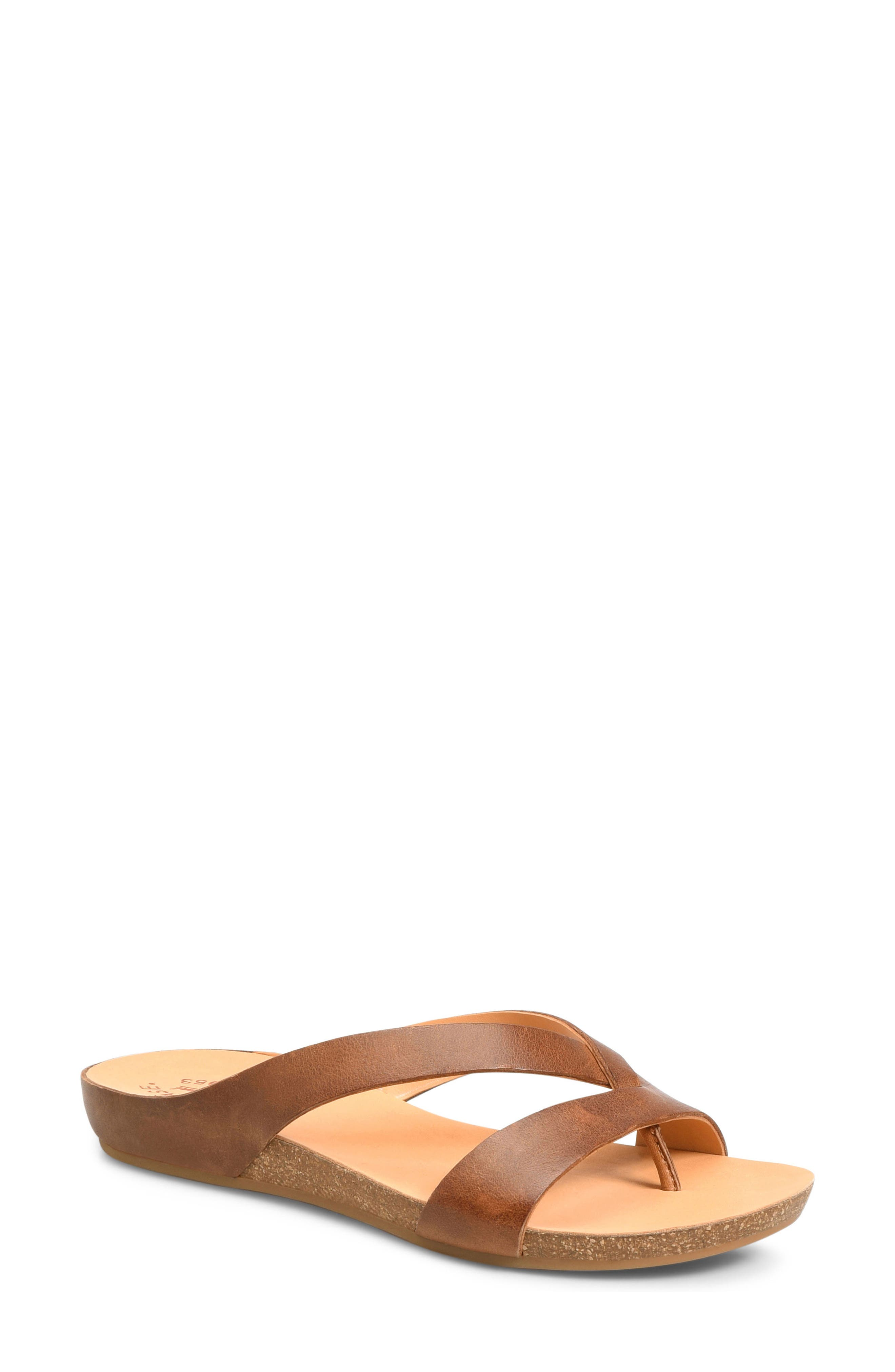 Devoe Sandal,                         Main,                         color, Brown Leather