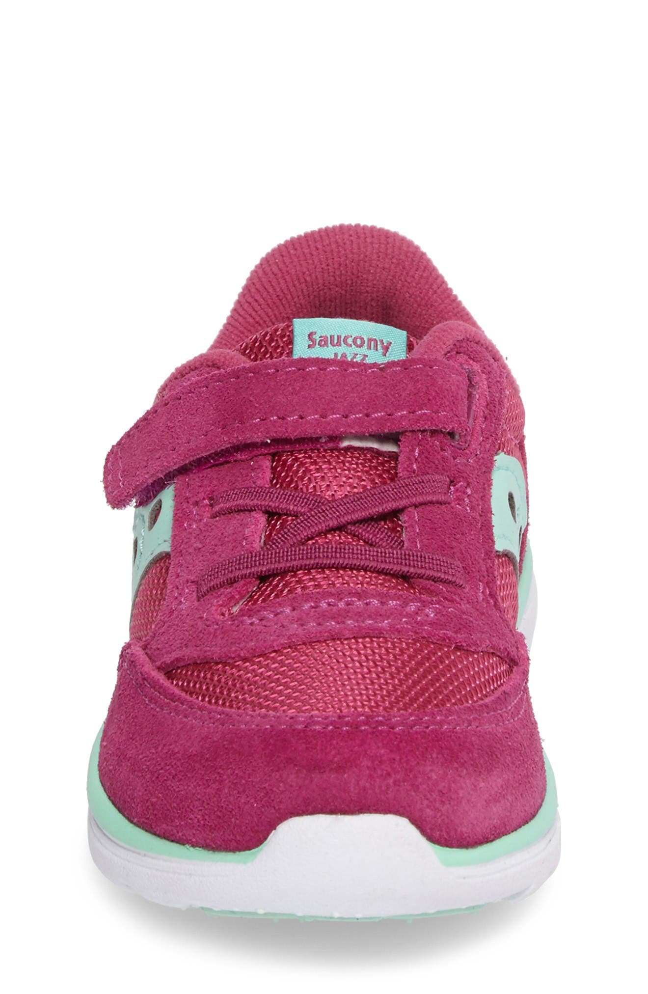 Jazz Lite Sneaker,                             Alternate thumbnail 4, color,                             Pink/ Turquoise