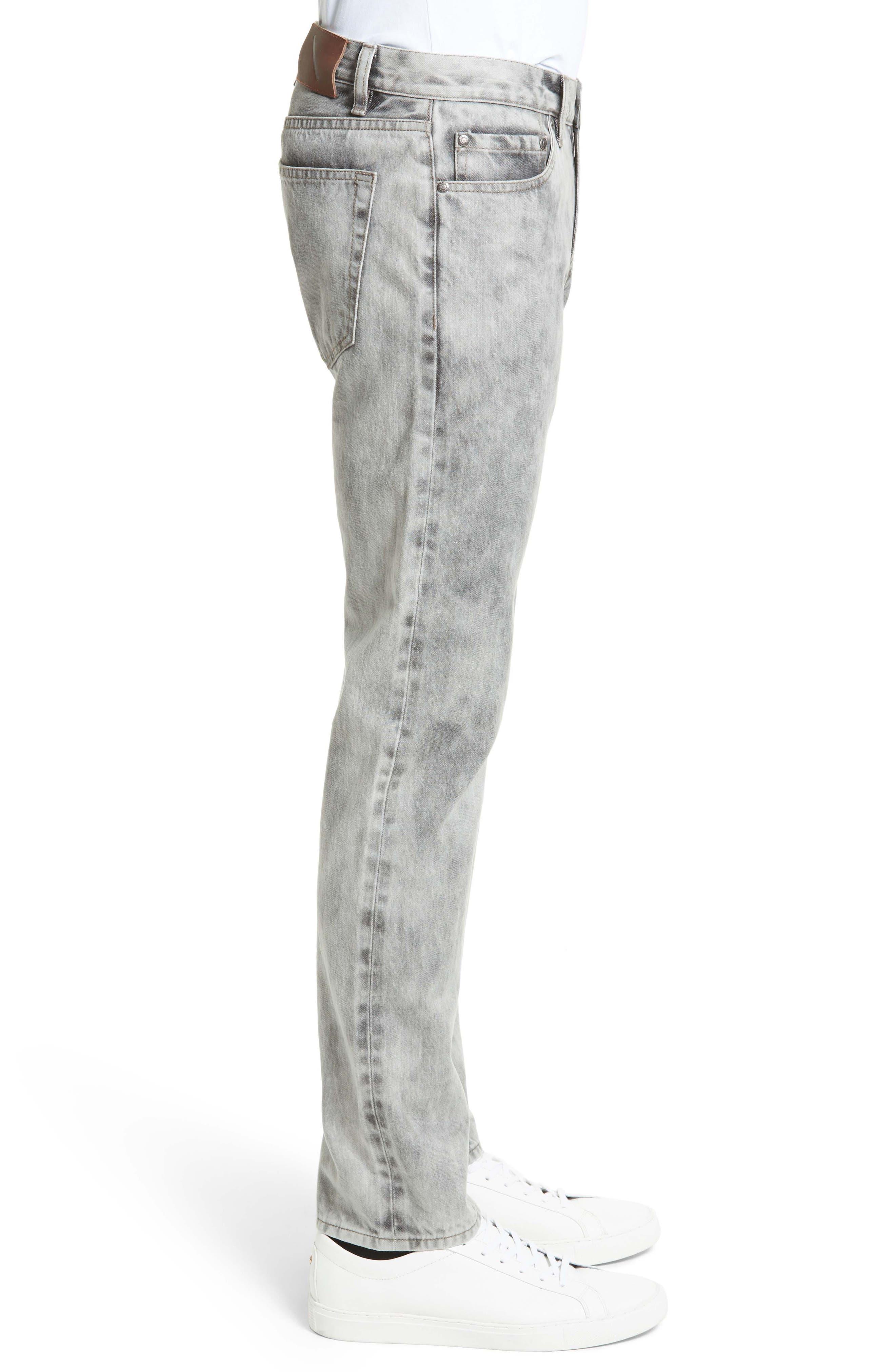 Alternate Image 3  - Saturdays NYC Luke Straight Leg Jeans (Washed Black)