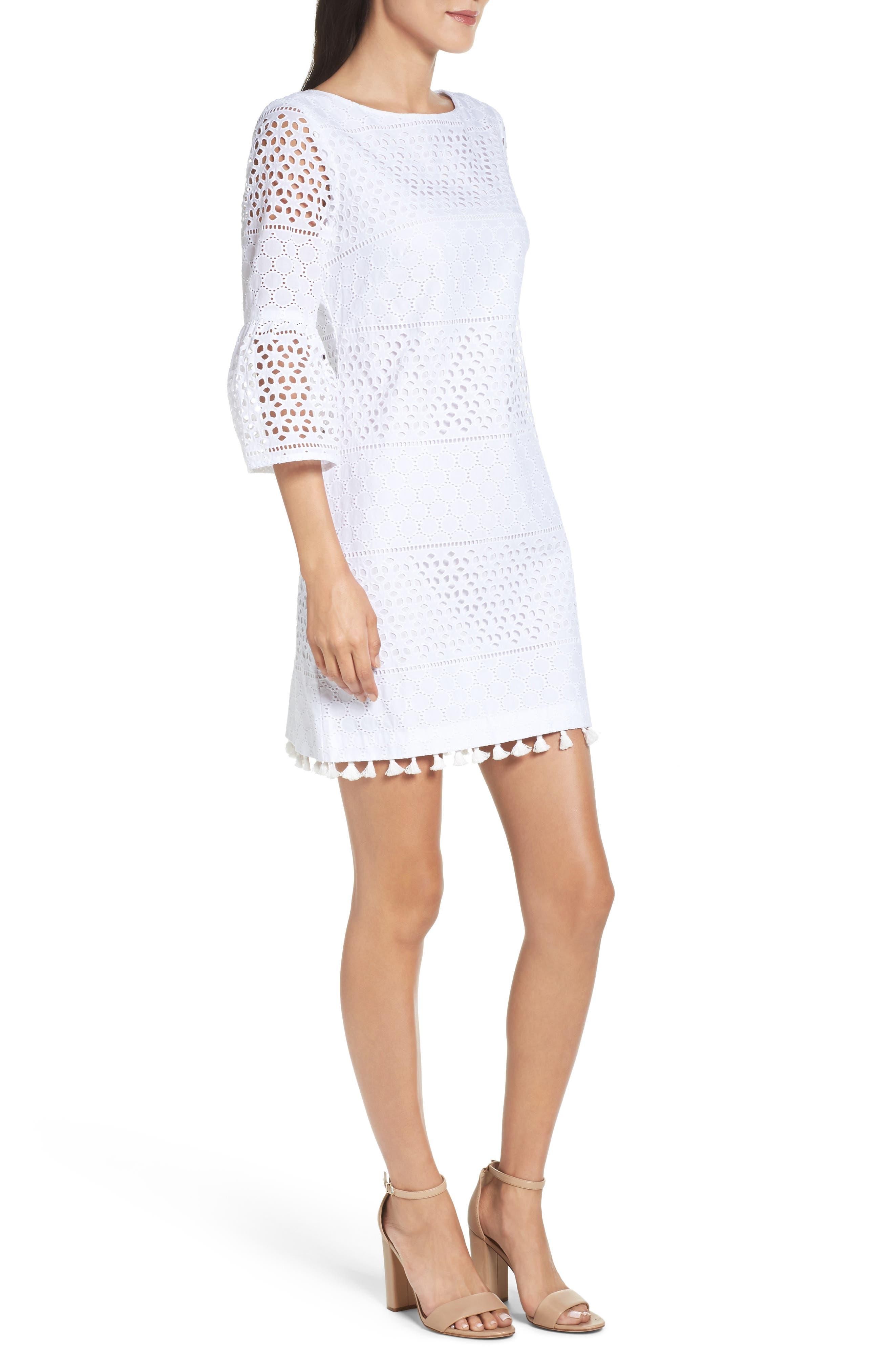 Alternate Image 3  - Vince Camuto Eyelet A-Line Dress (Regular & Petite)