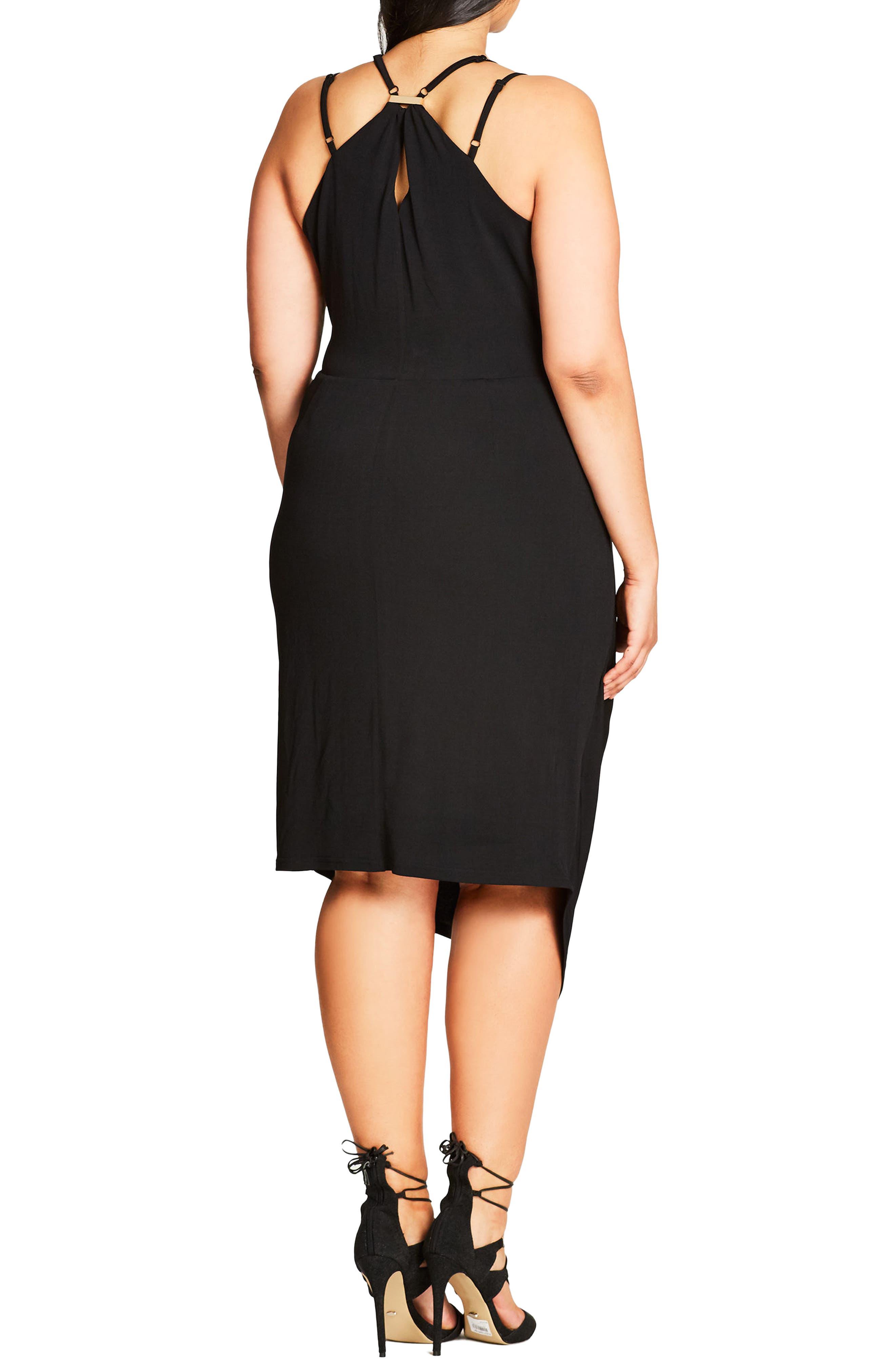 So Seductive Faux Wrap Dress,                             Alternate thumbnail 2, color,                             Black