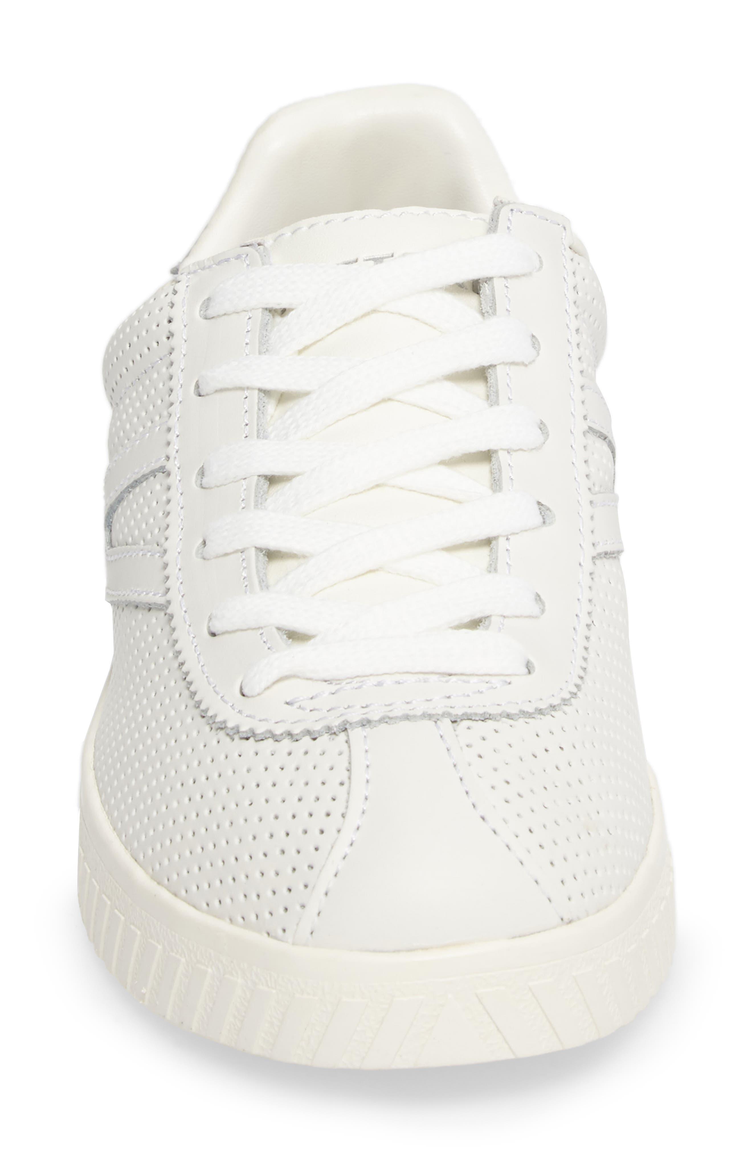 Camden 2 Sneaker,                             Alternate thumbnail 4, color,                             White/ White/ Silver