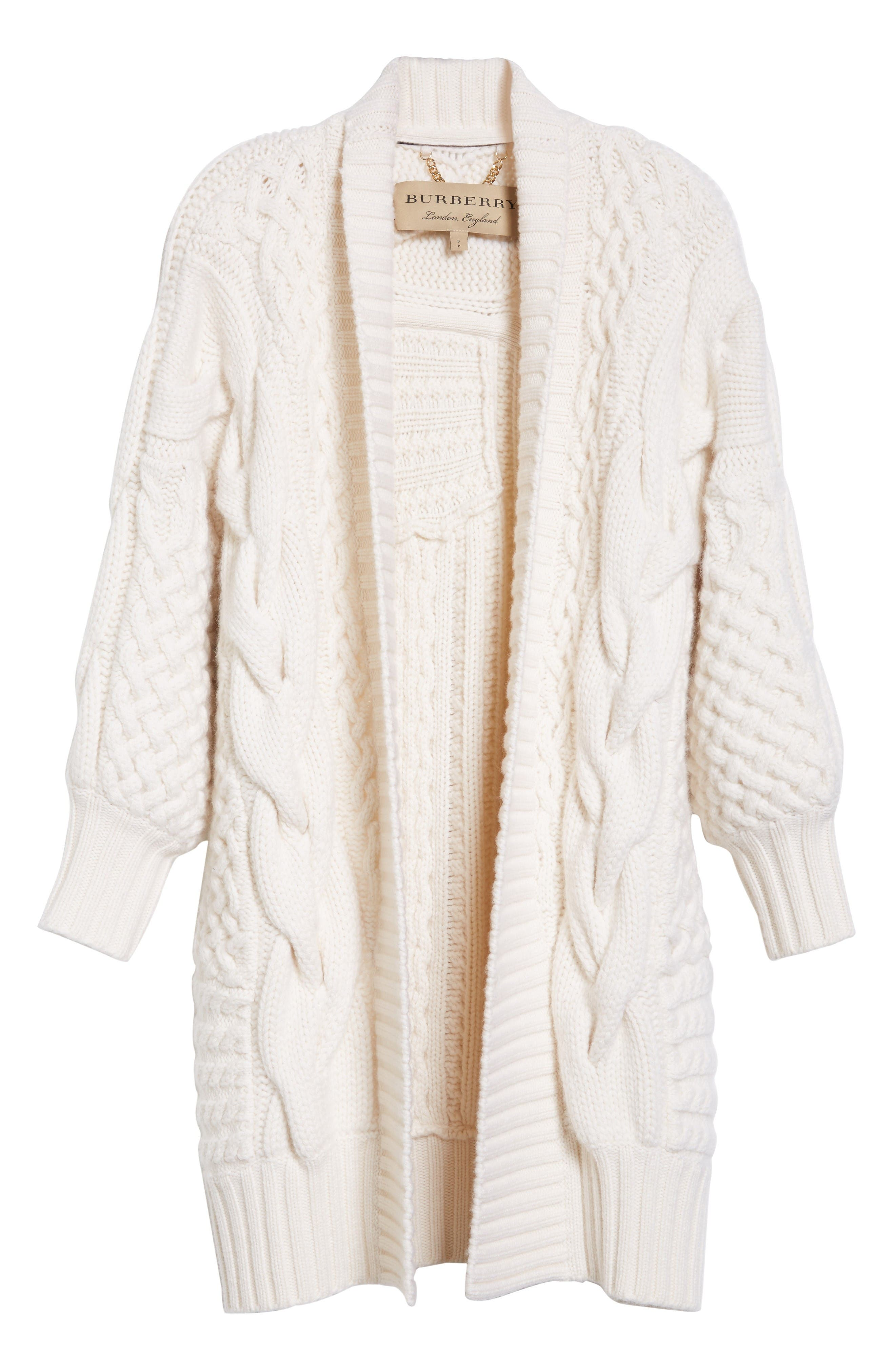 Alternate Image 4  - Burberry Camrosbrook Wool & Cashmere Open Cardigan