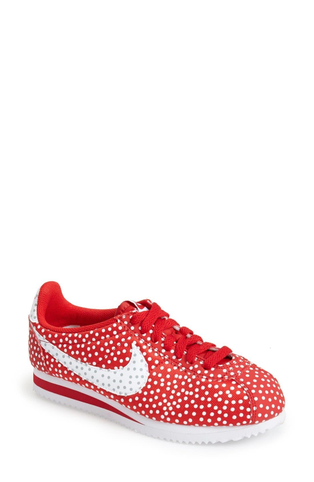 Alternate Image 1 Selected - Nike 'Cortez - Polka Dot Print' Sneaker (Women)
