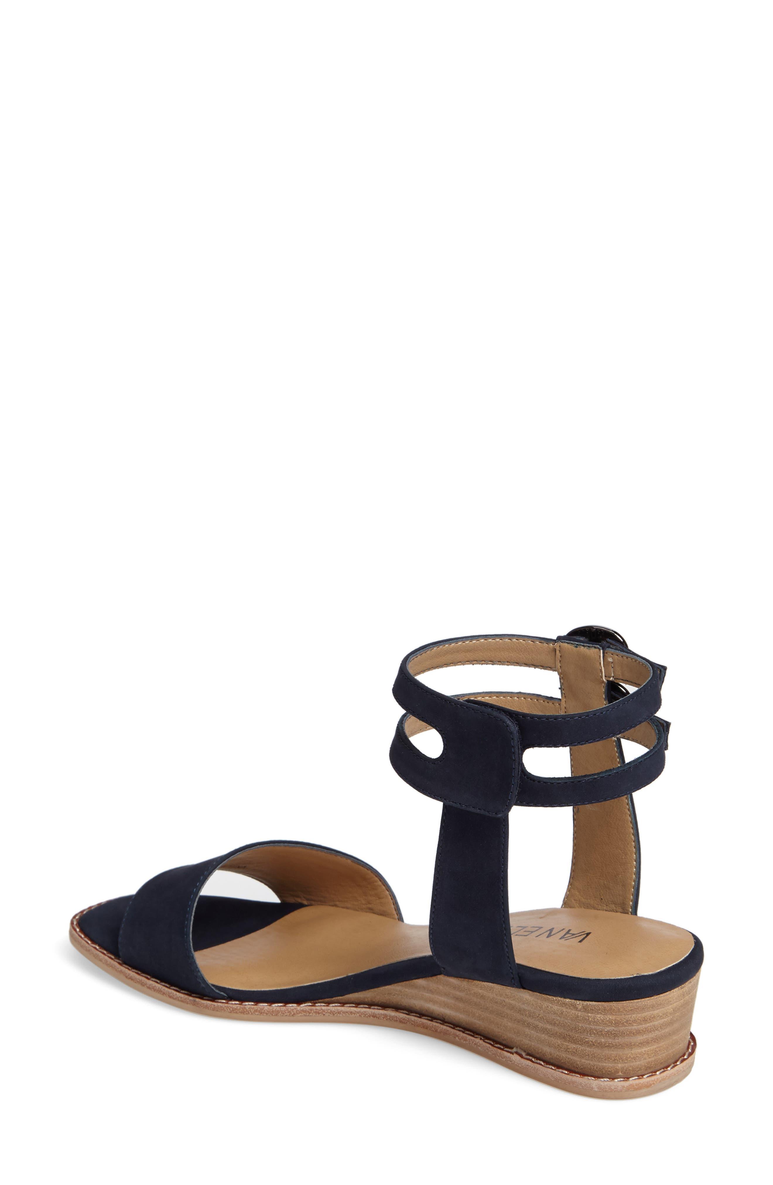 Jarita Ankle Strap Sandal,                             Alternate thumbnail 2, color,                             Navy Leather