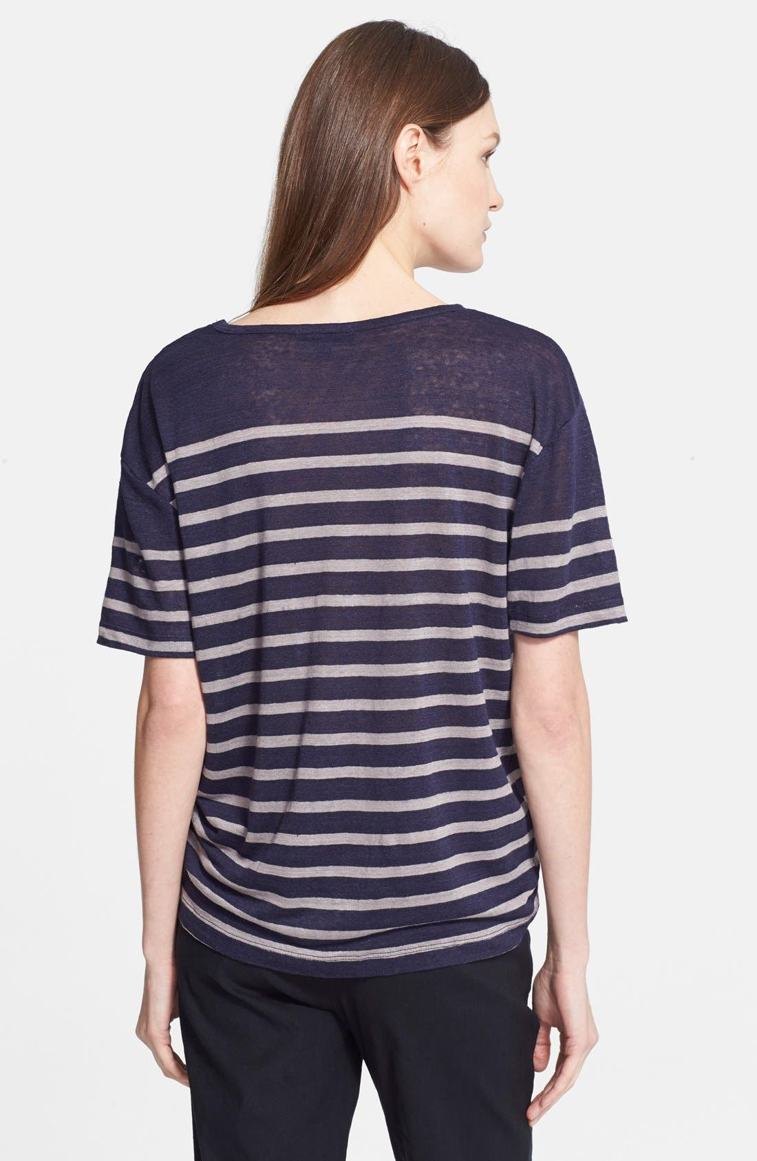 Alternate Image 2  - Charlotte Gainsbourg for Current/Elliott 'The Short Sleeve Linen Stripe' Tee