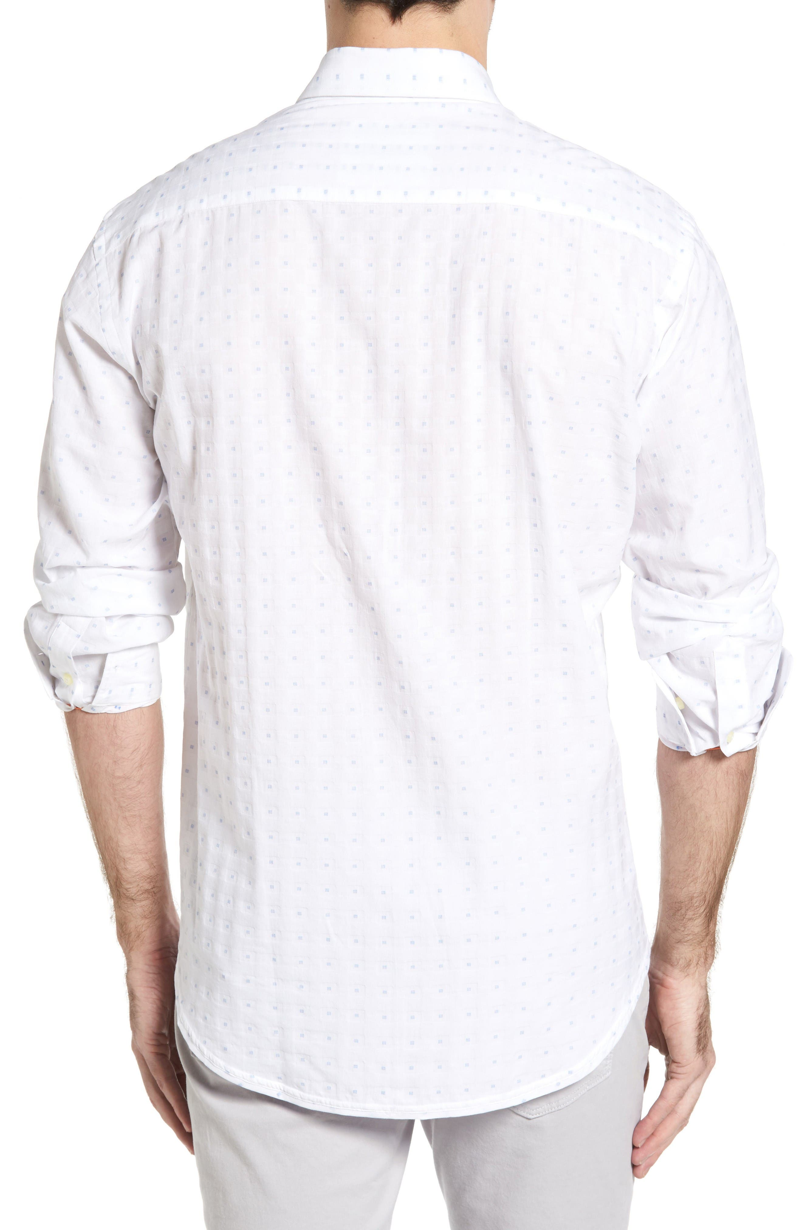 Alternate Image 2  - Thomas Dean Classic Fit Fil Coupé Sport Shirt