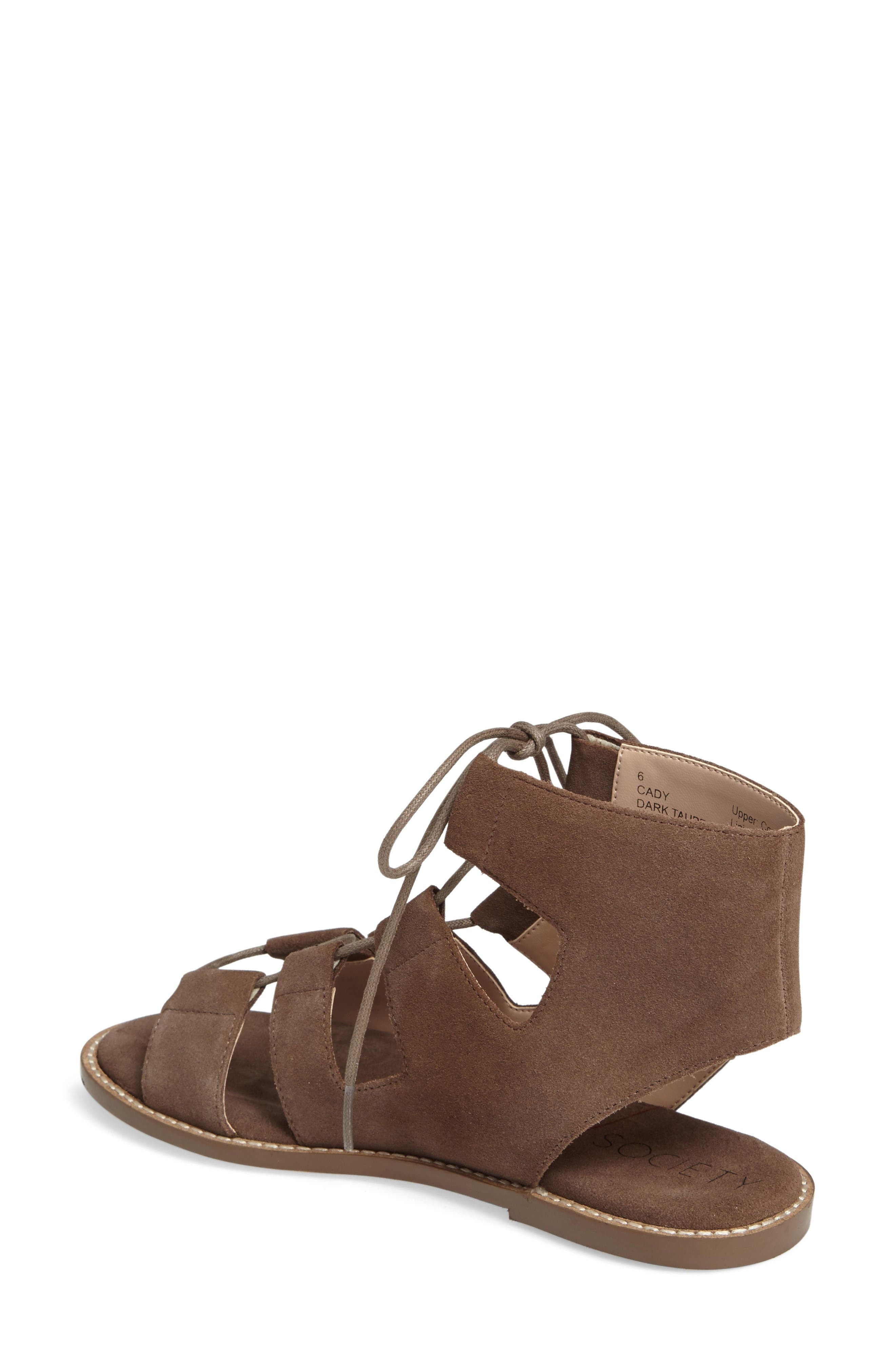 Alternate Image 2  - Sole Society 'Cady' Lace-Up Flat Sandal (Women)