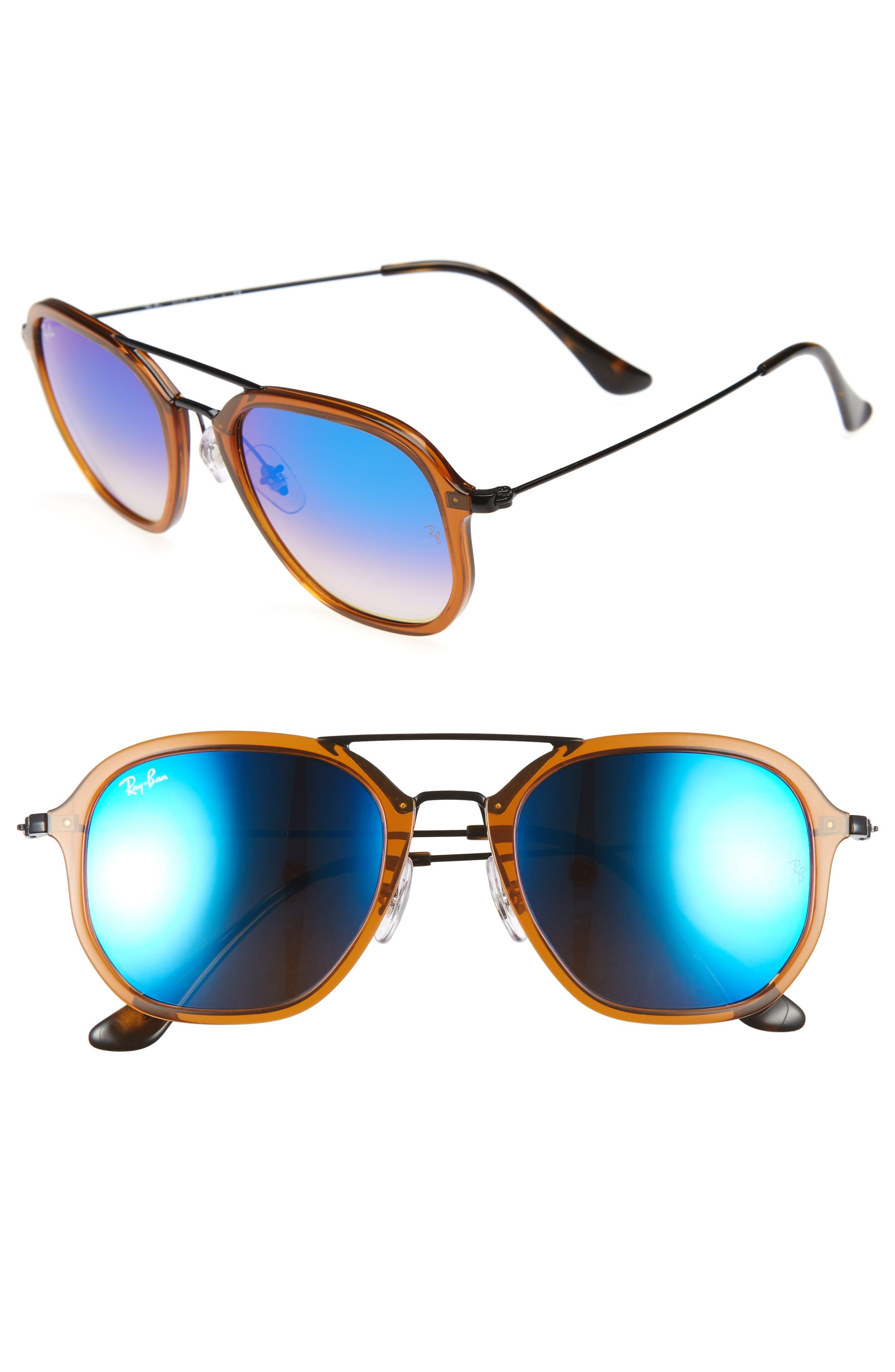Alternate Image 1 Selected - Ray-Ban Highstreet 52mm Aviator Sunglasses