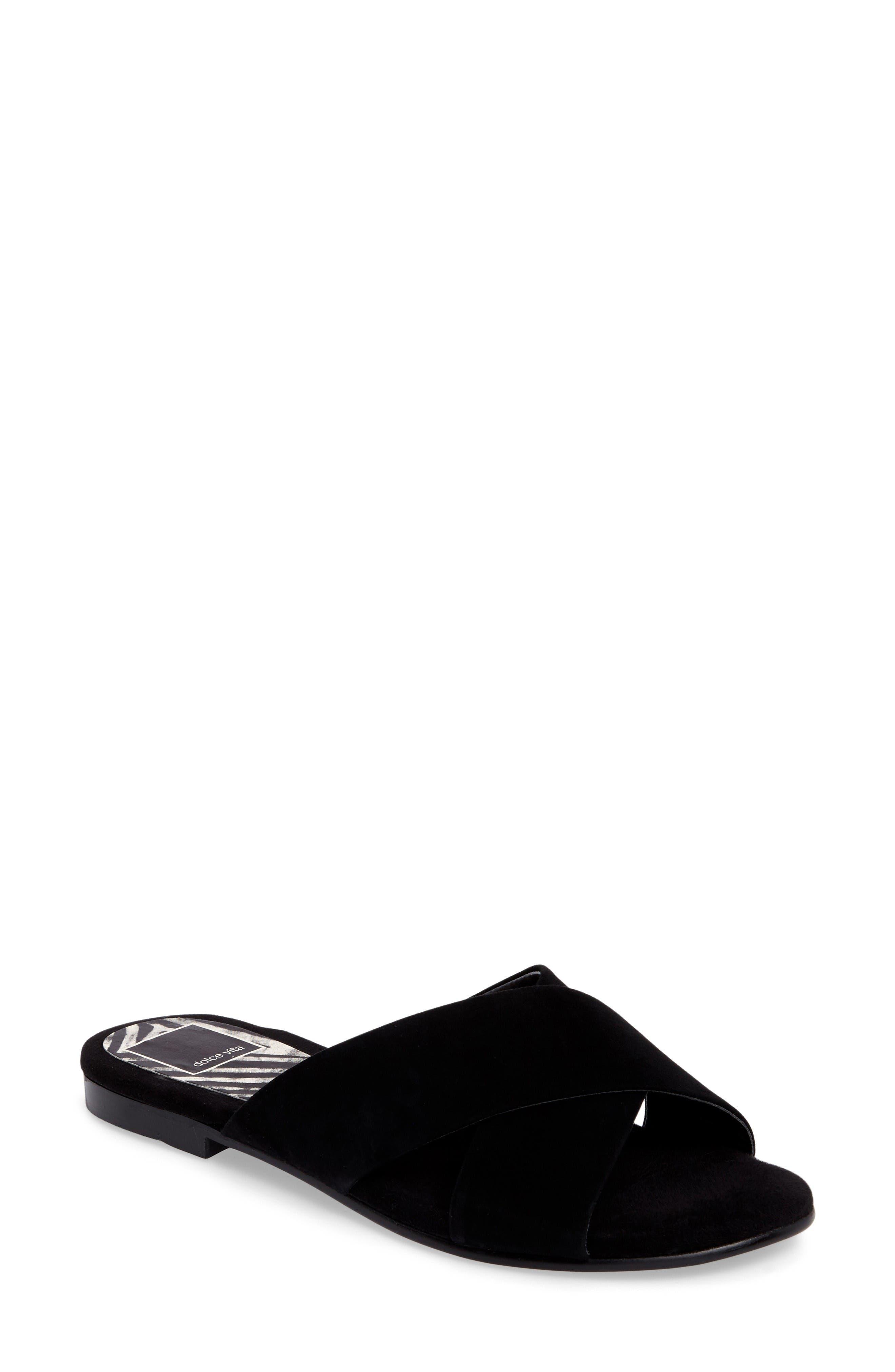 Alternate Image 1 Selected - Dolce Vita Cross Strap Slide Sandal (Women)