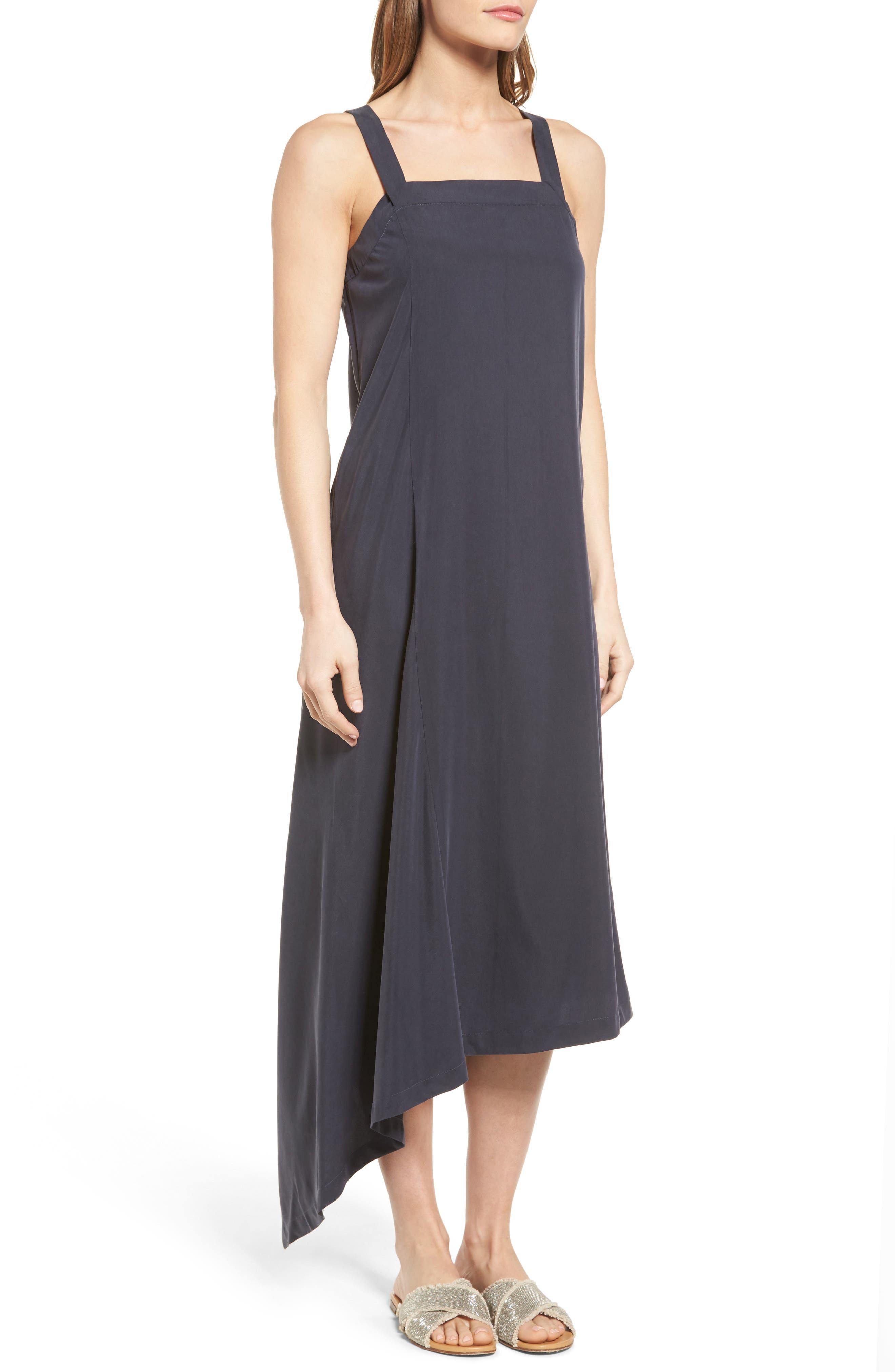Alternate Image 3  - NIC+ZOE City Slicker Asymmetrical Midi Dress (Regular & Petite)