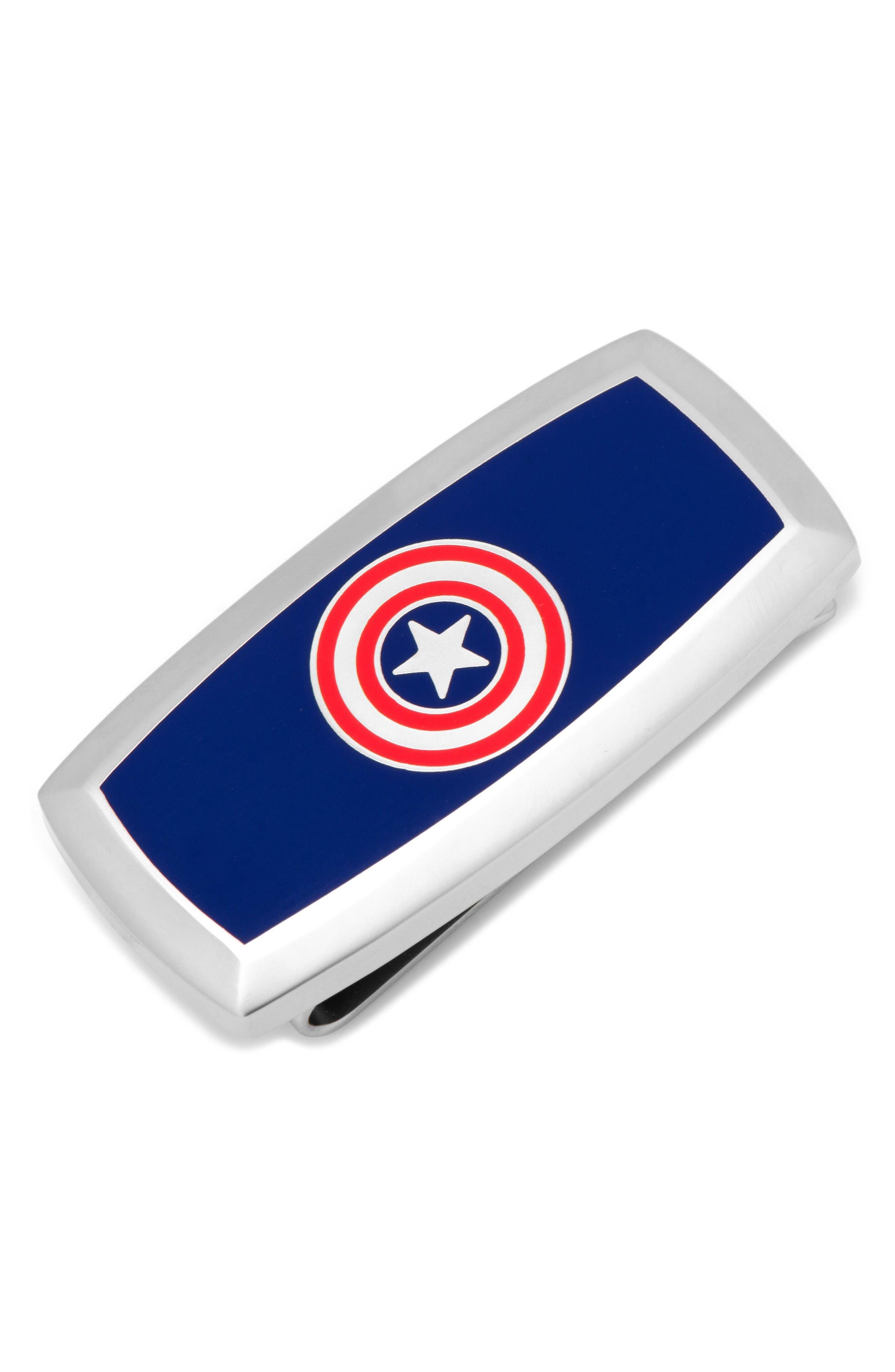 DC Comics Money Clip,                             Main thumbnail 1, color,                             Captain America