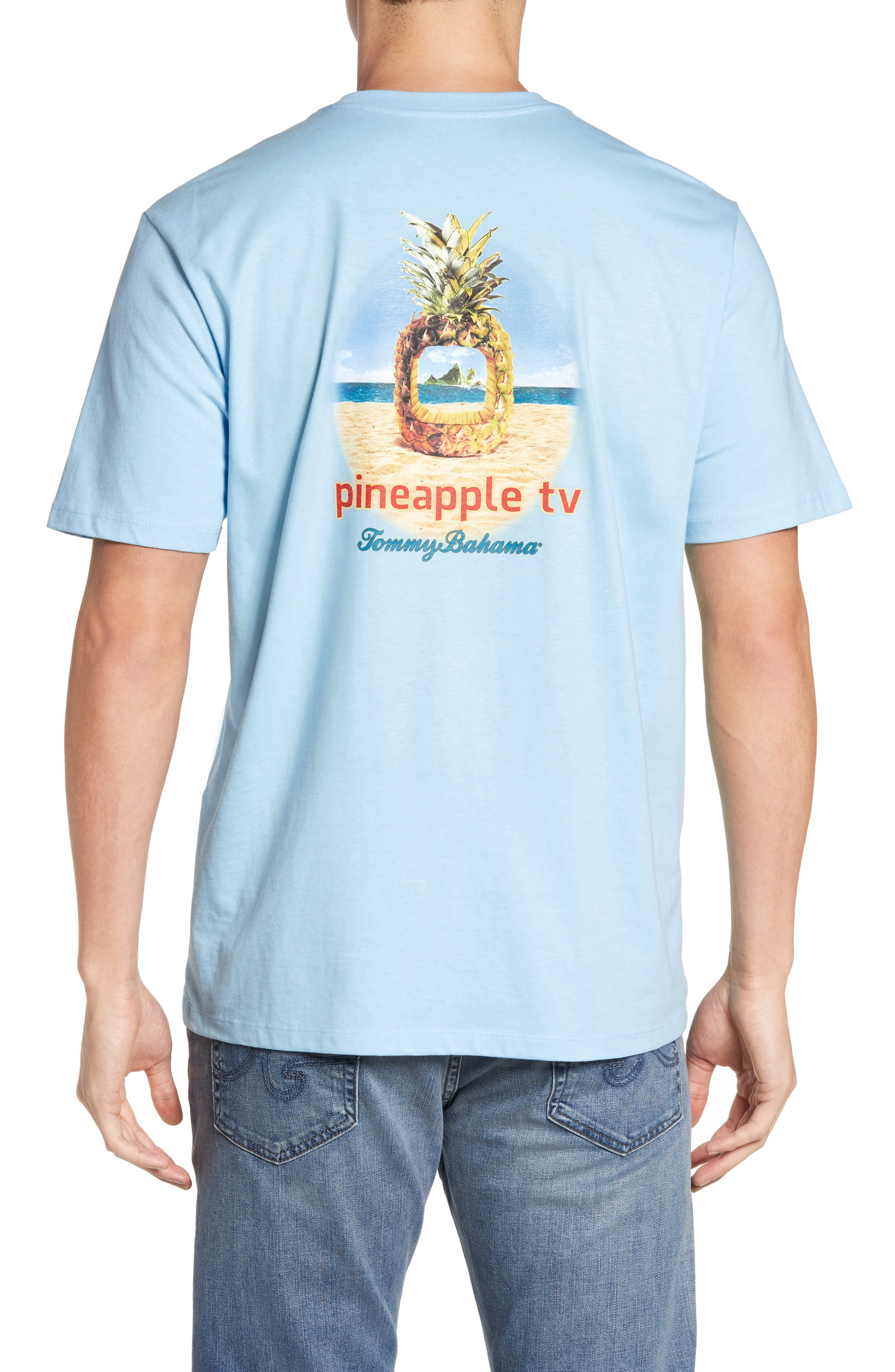 Pineapple TV Graphic T-Shirt,                         Main,                         color, Graceful Sea