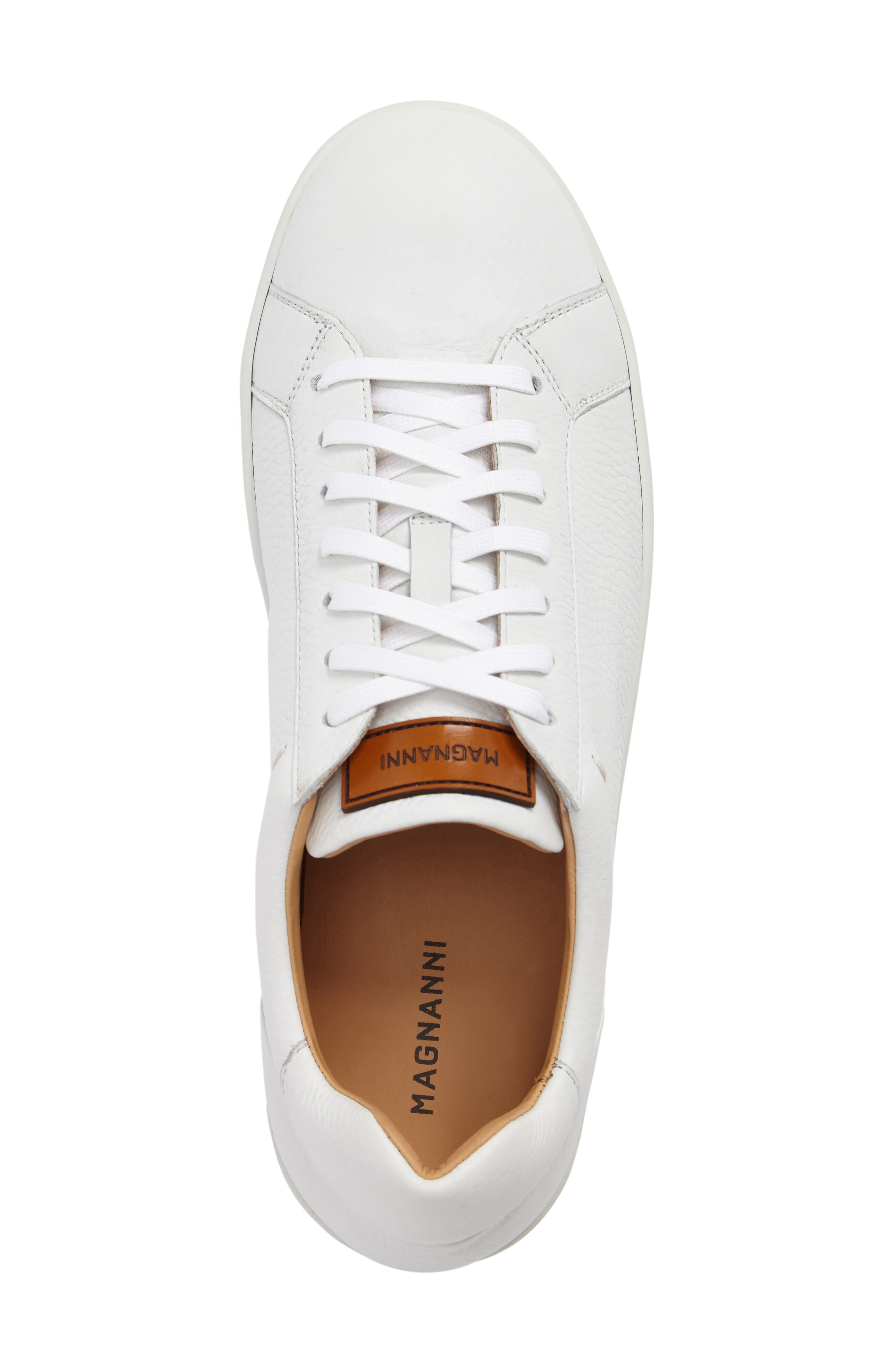 Caballero Sneaker,                             Alternate thumbnail 5, color,                             White Leather