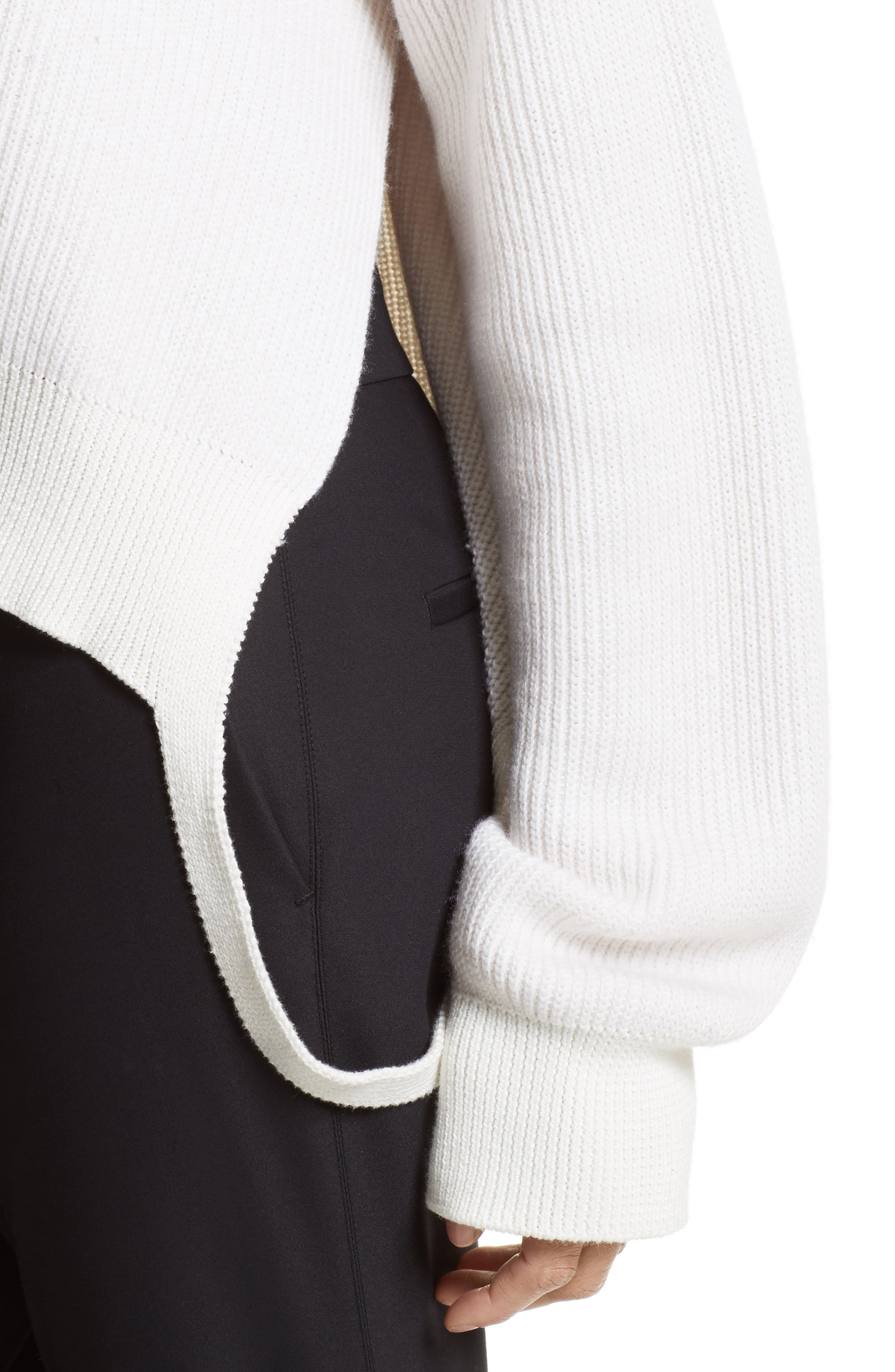 Side Strap Pullover,                             Alternate thumbnail 5, color,                             Ivory