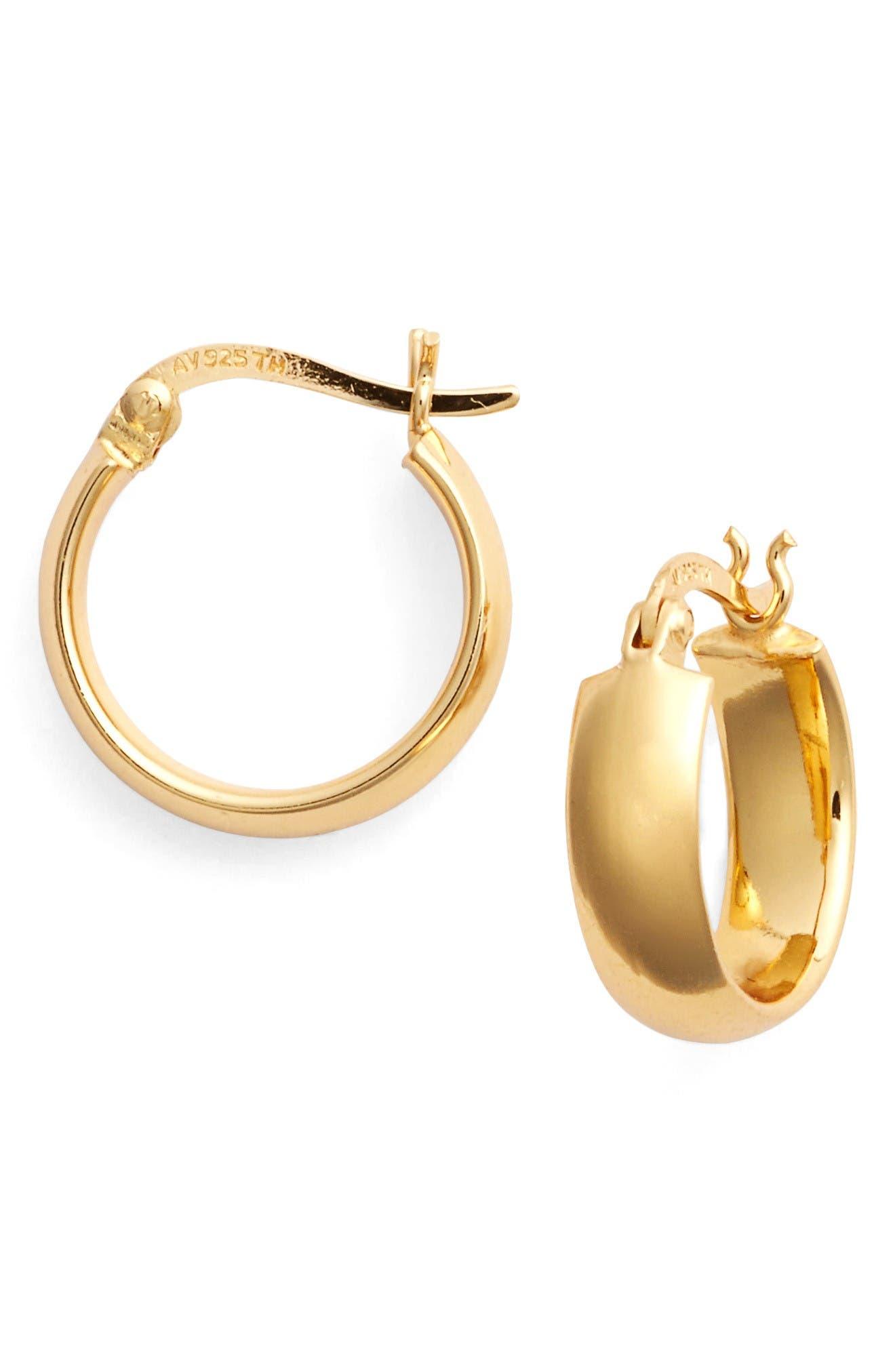Alternate Image 3  - Argento Vivo Small Curved Hoop Earrings
