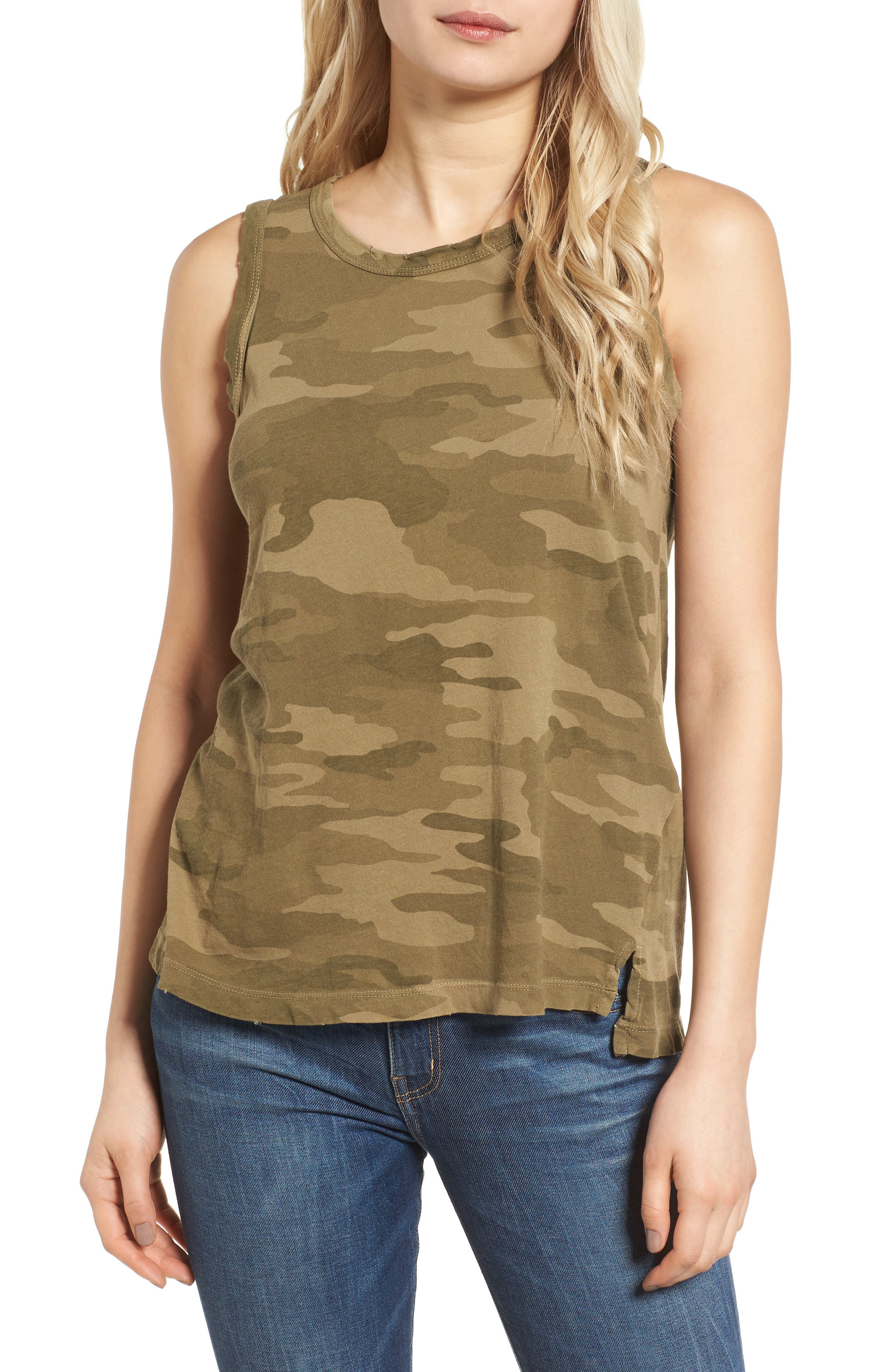 The Muscle Tee,                             Main thumbnail 1, color,                             Army Camo