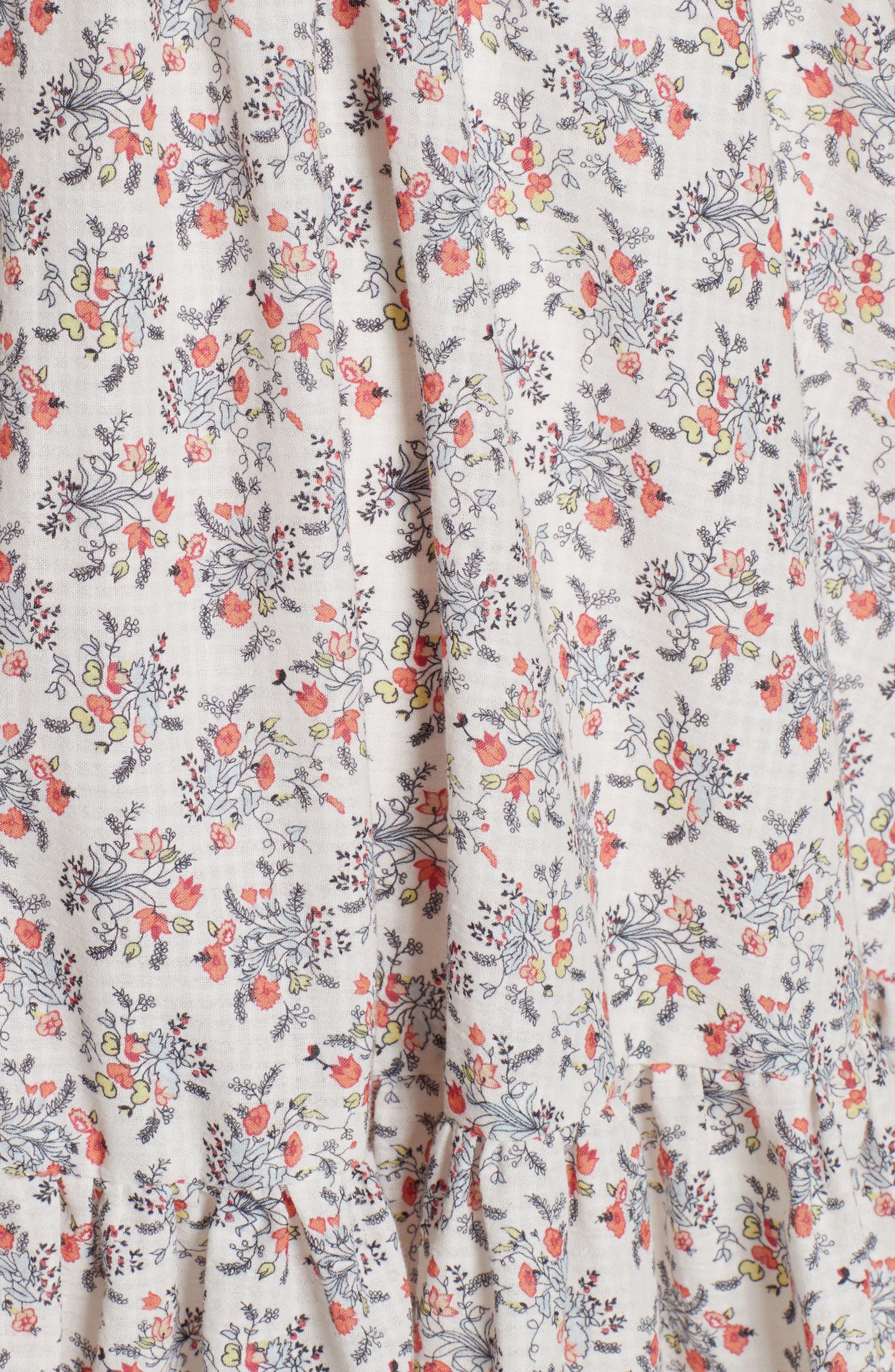 Provençal Strapless Dress,                             Alternate thumbnail 5, color,                             Creamsicle Combo