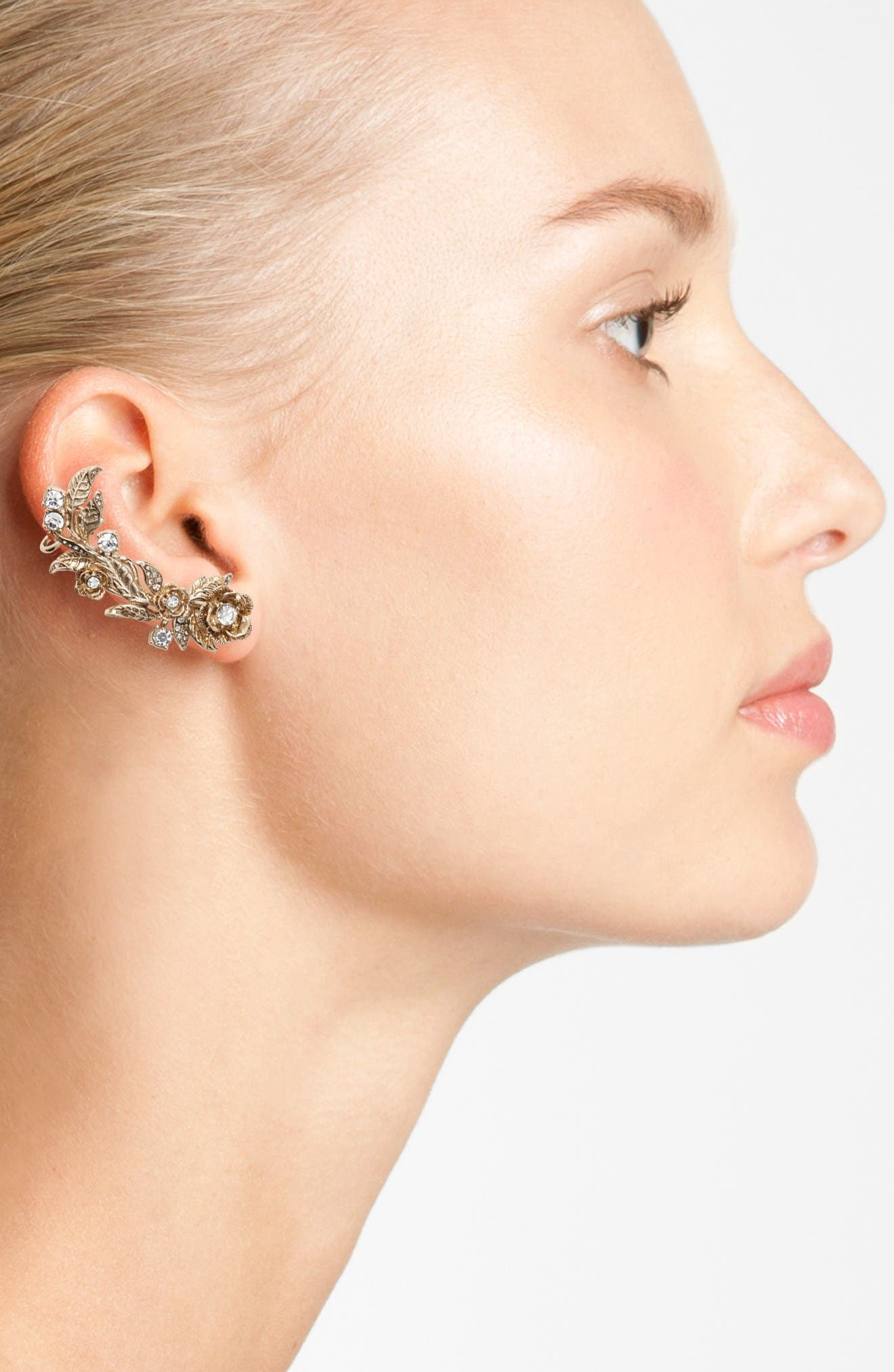 Alternate Image 2  - Marchesa Mismatched Earrings Ear Crawler & Stud