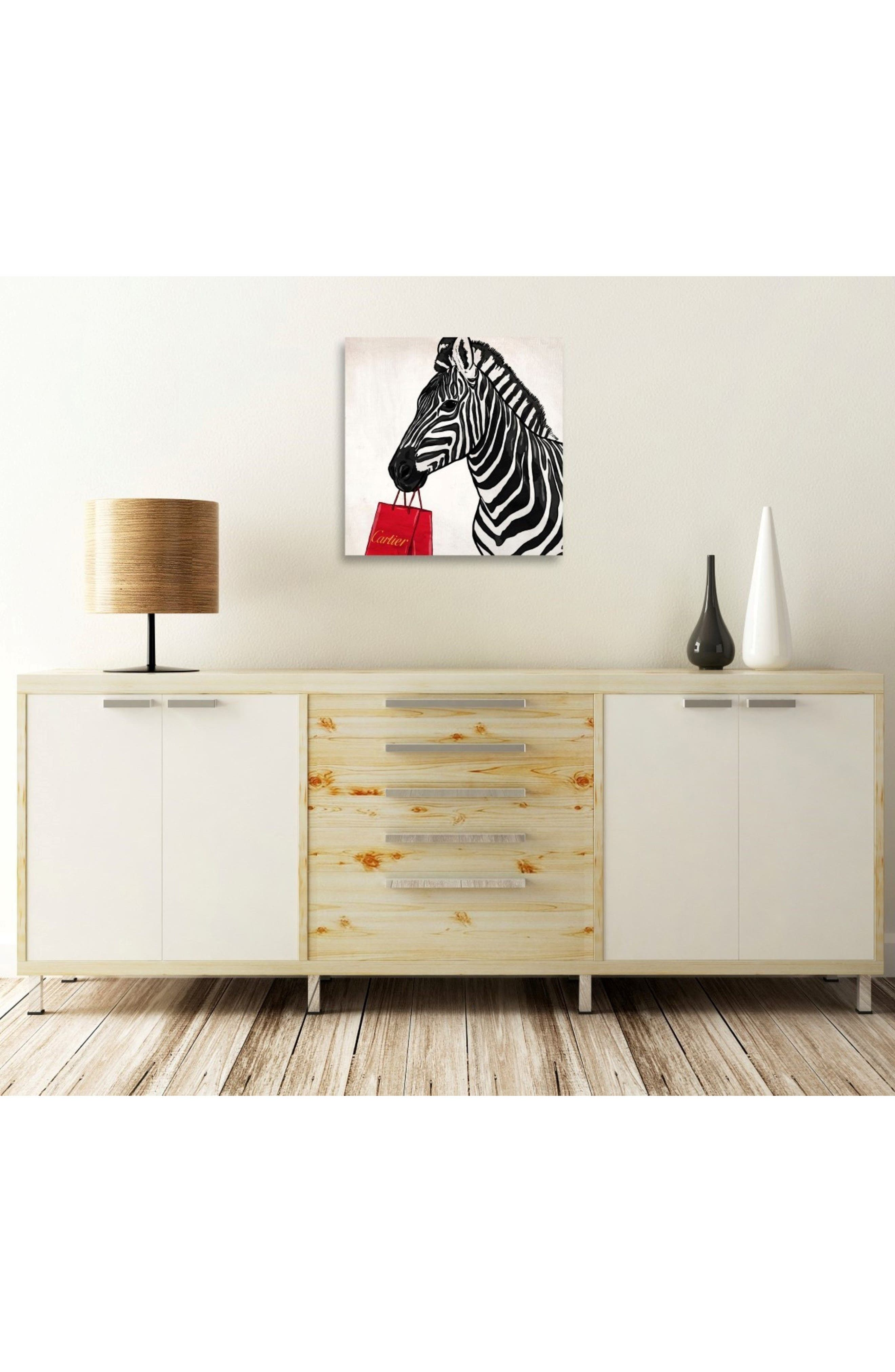 Alternate Image 2  - Oliver Gal Expensive Zebra Canvas Wall Art