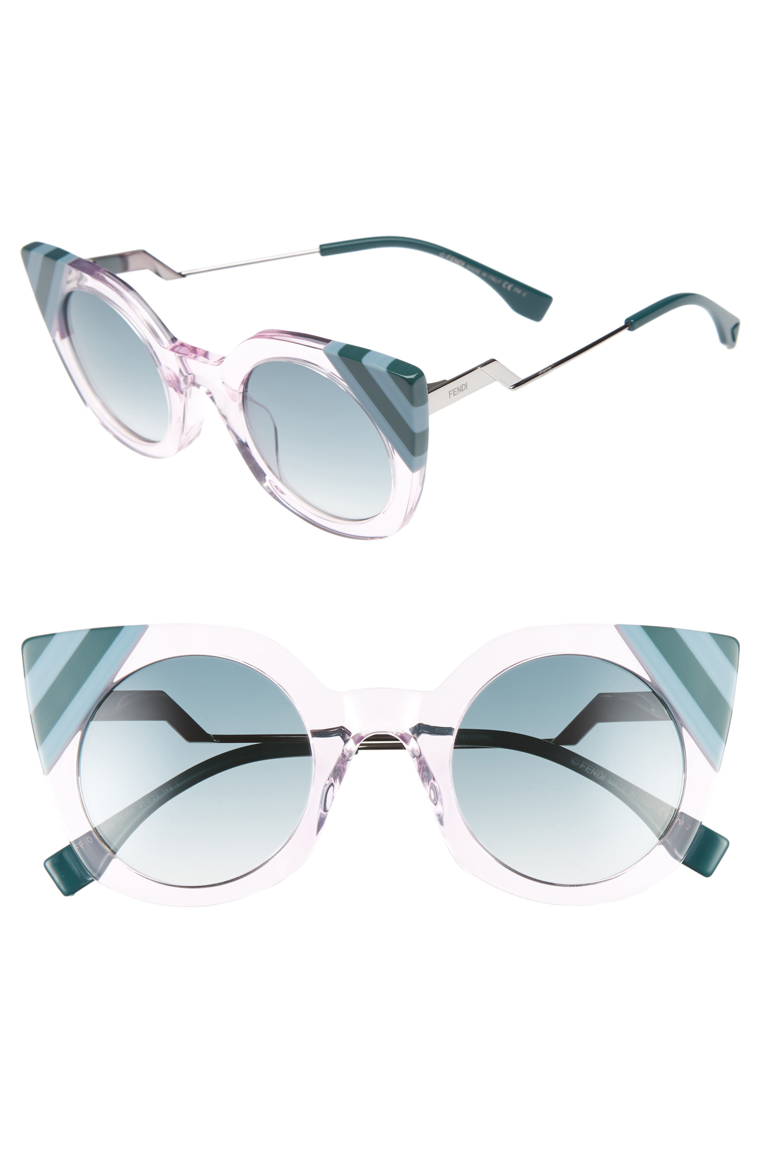 47mm Cat Eye Sunglasses,                             Main thumbnail 1, color,                             Pink
