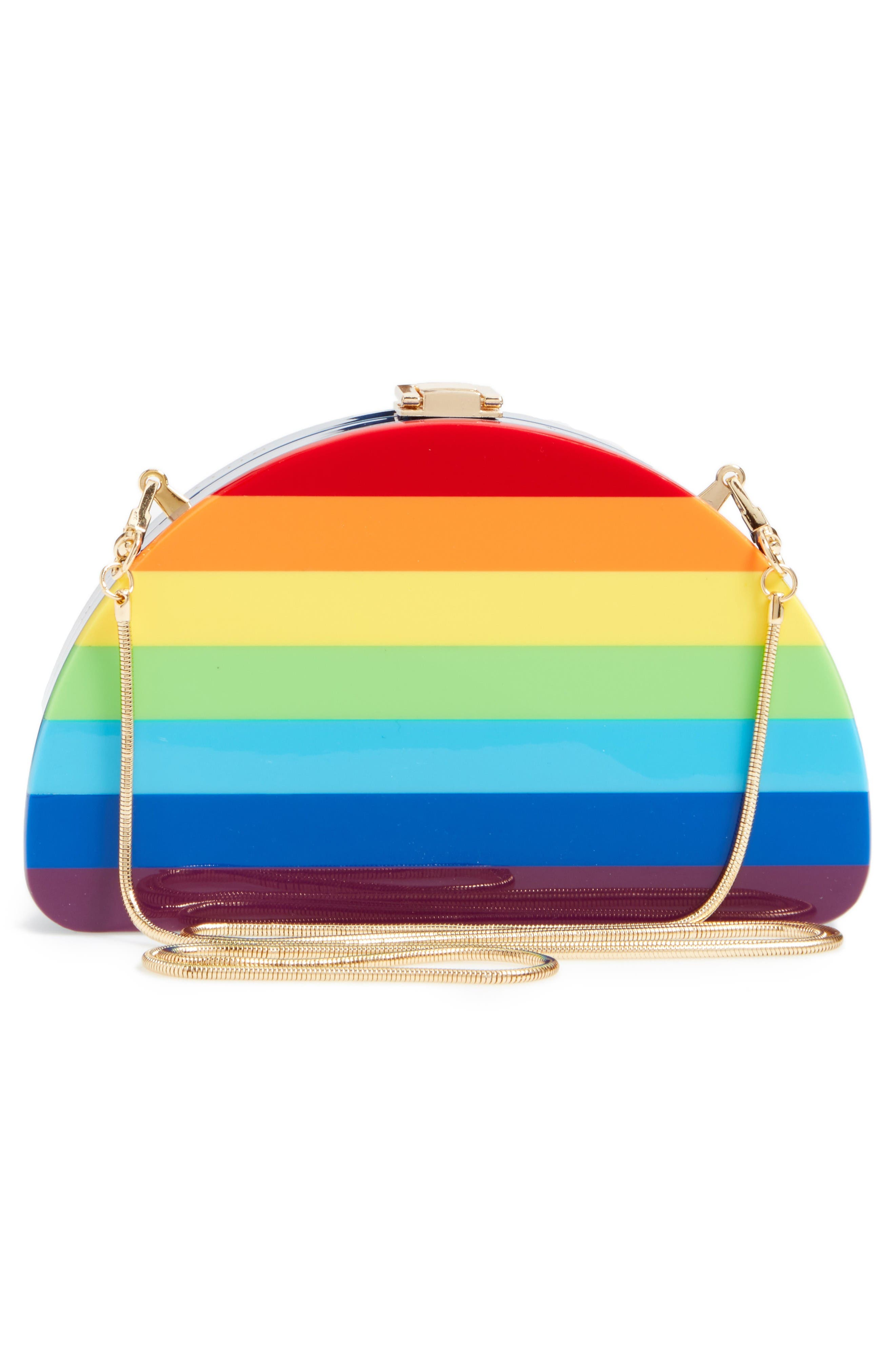 Alternate Image 3  - Milly Rainbow Half Moon Clutch