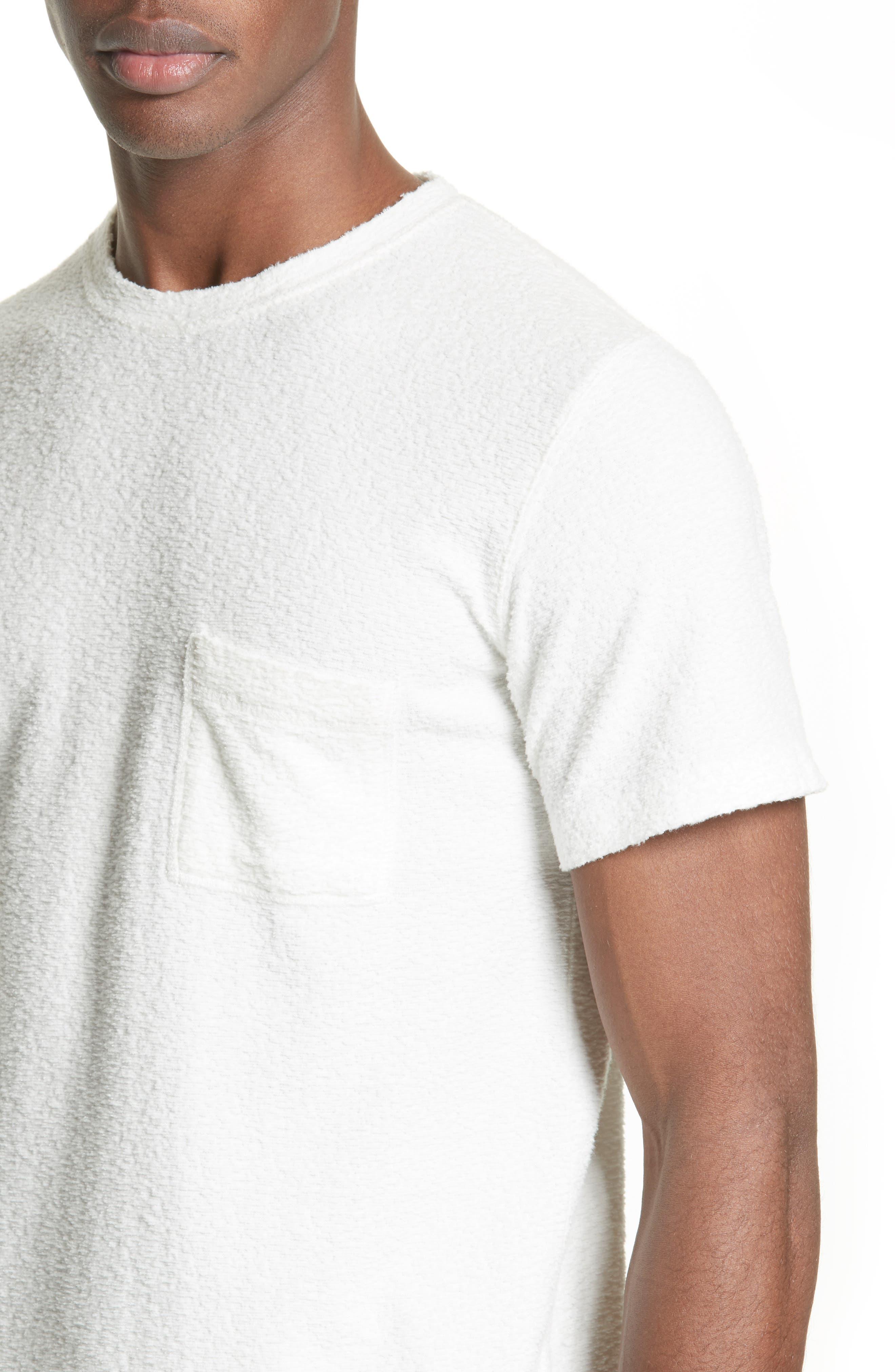 Bouclé Pocket T-Shirt,                             Alternate thumbnail 4, color,                             White