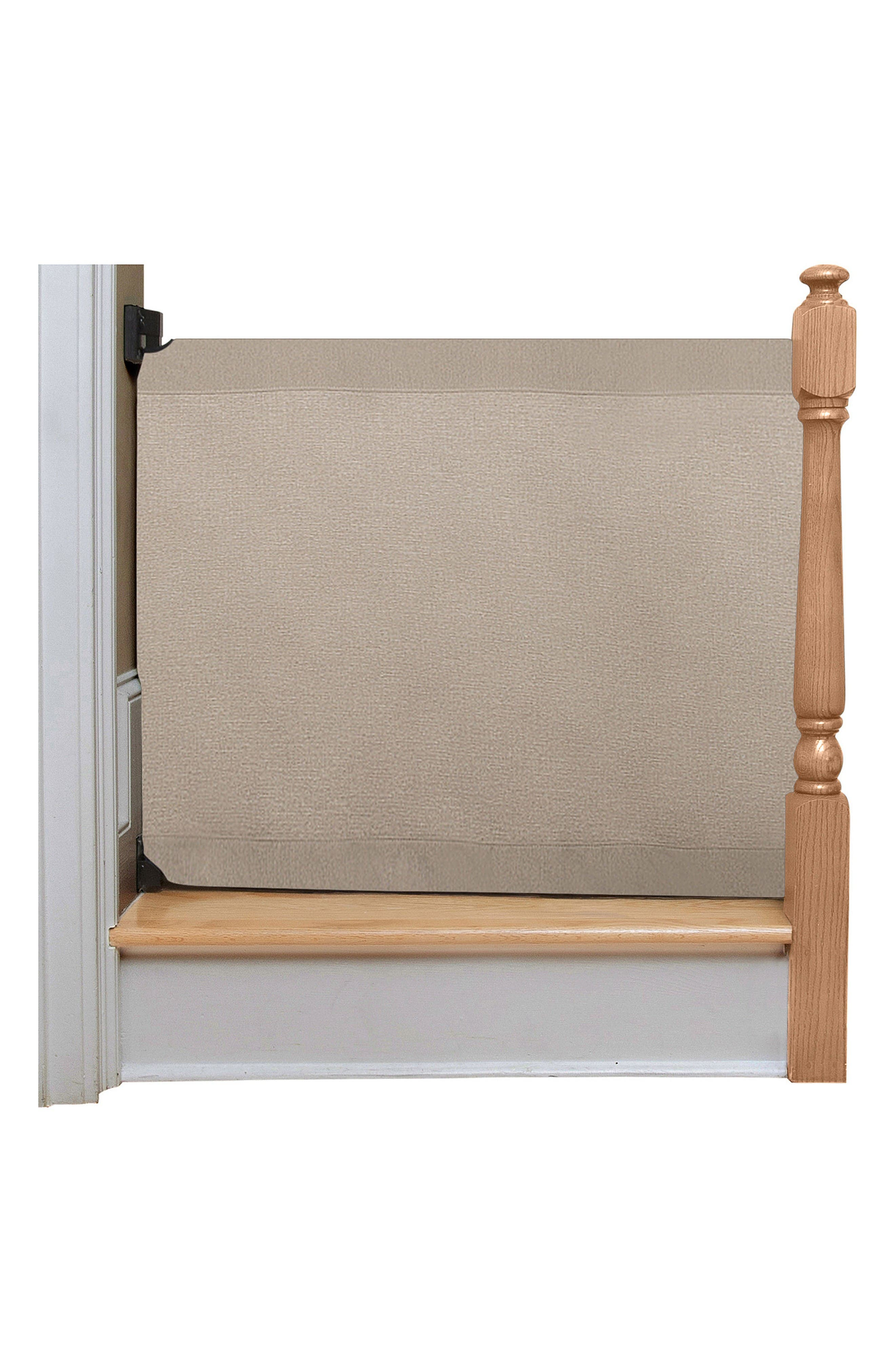 Wall to Banister Safety Gate,                         Main,                         color, Khaki