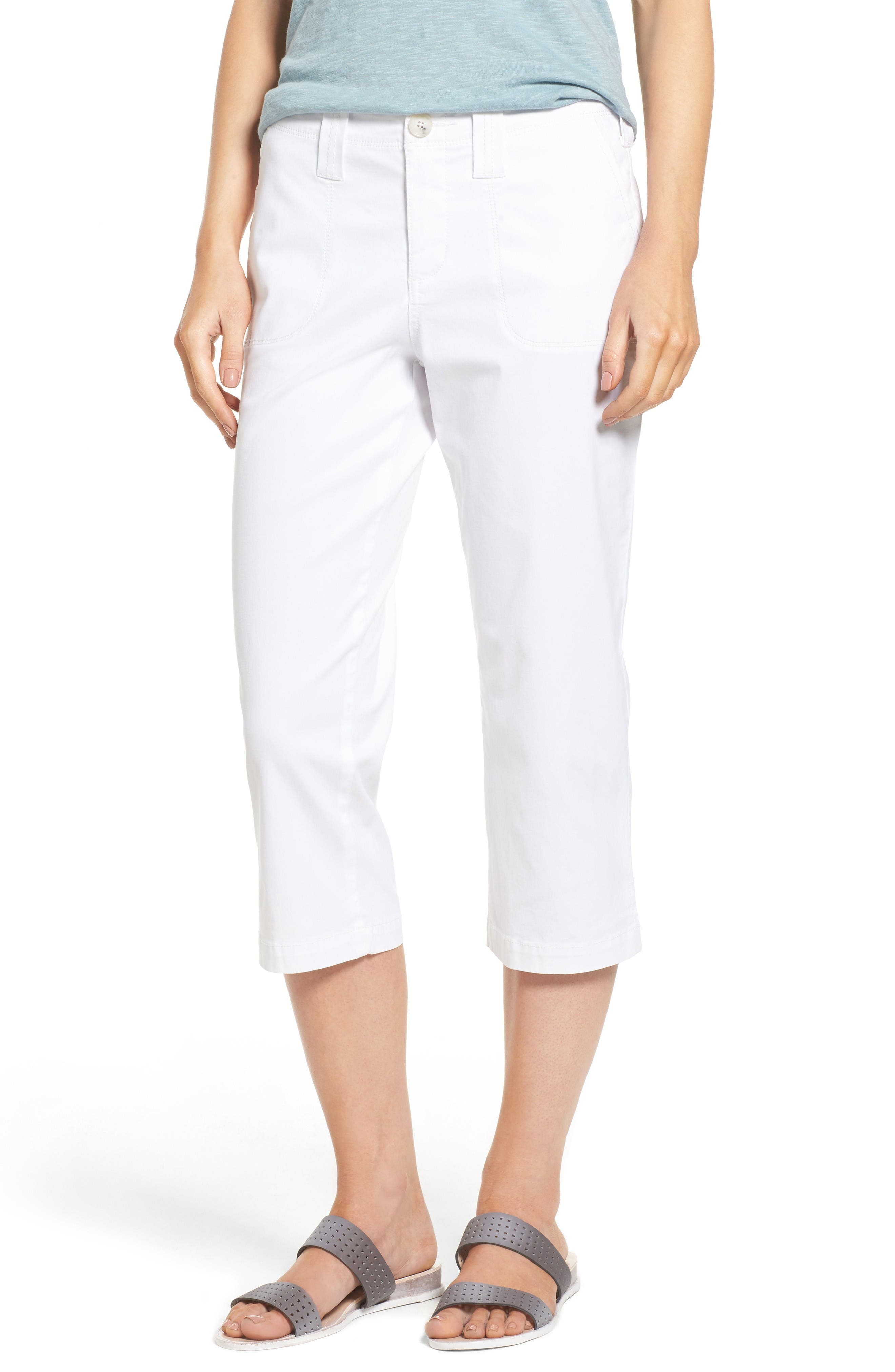 NYDJ Stretch Cotton Crop Pants (Regular & Petite)