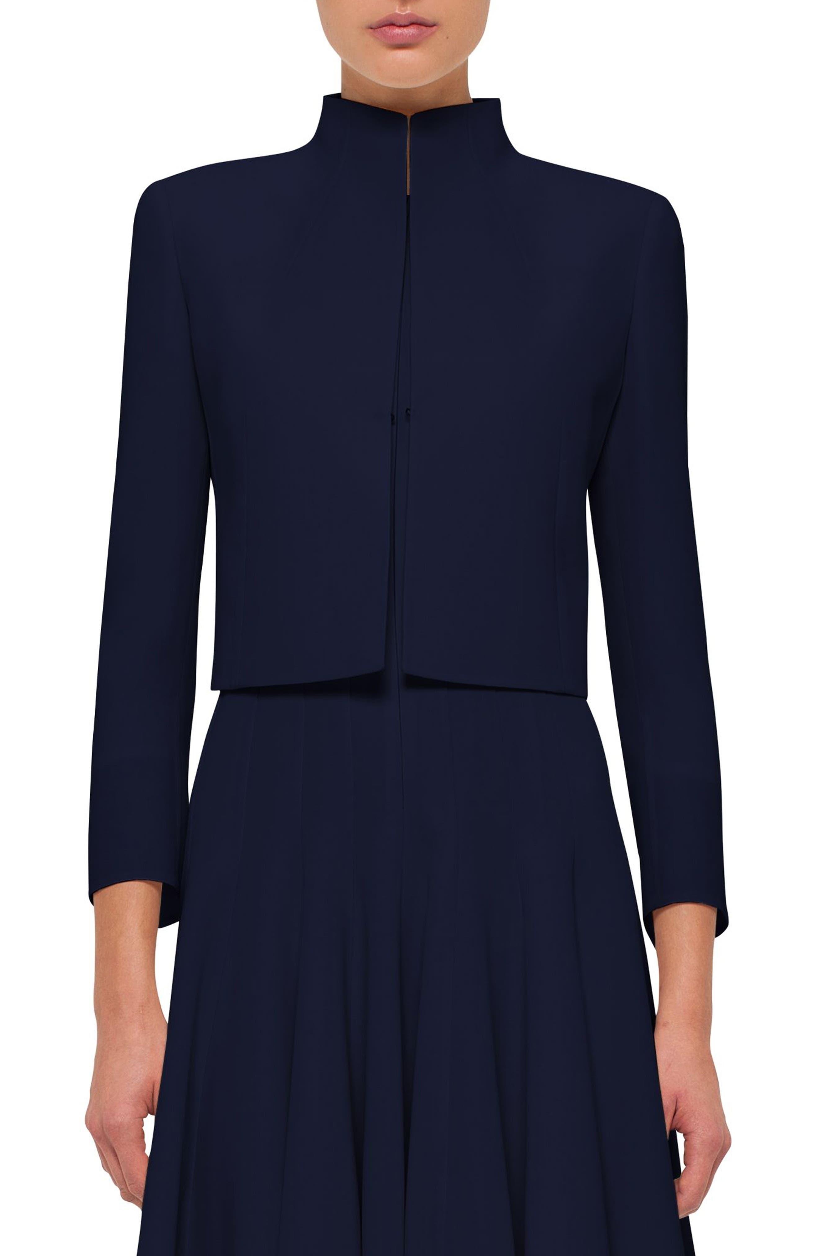 Akris Pandora Short Stretch Wool Jacket