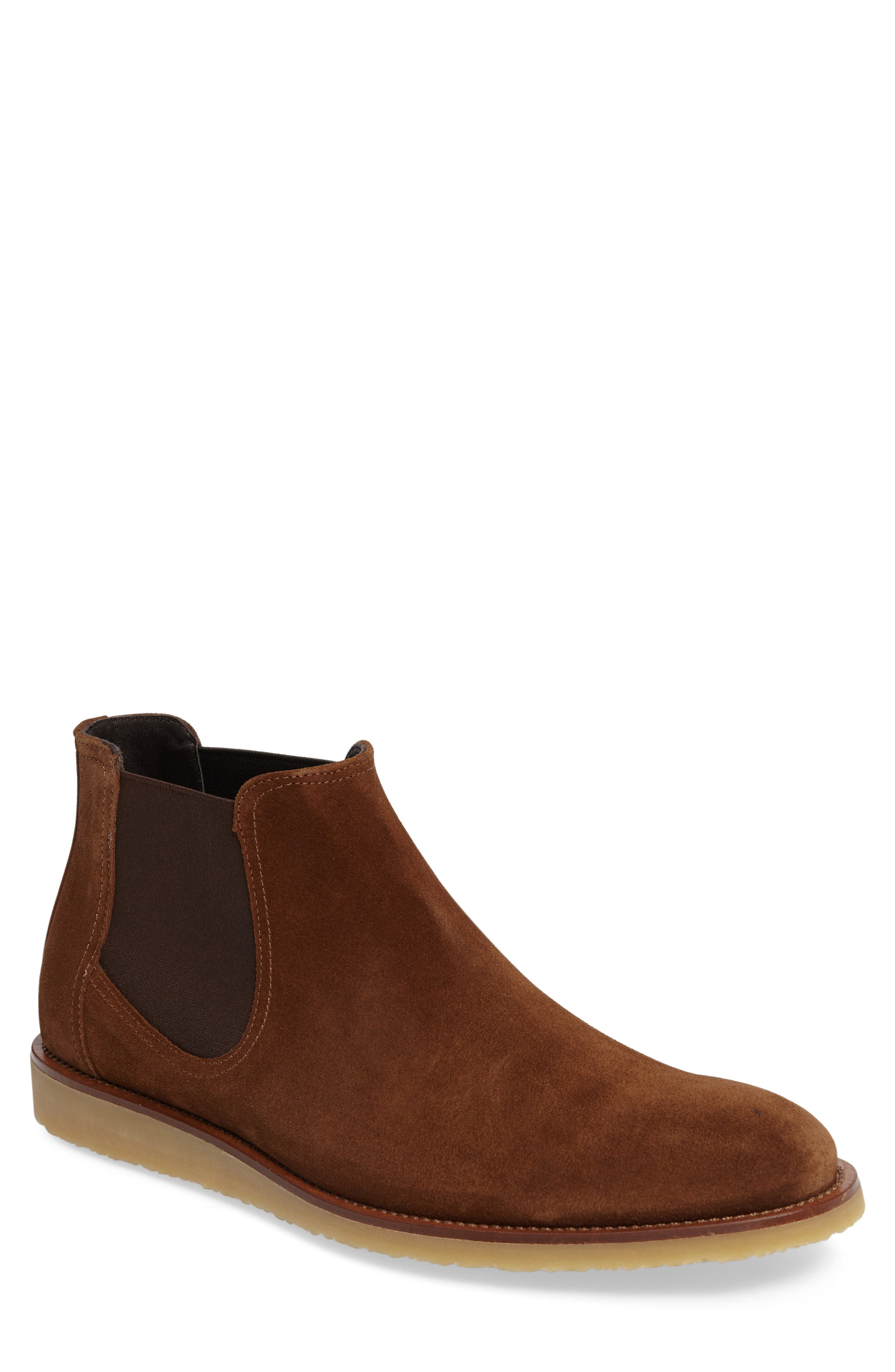 March Chelsea Boot,                             Main thumbnail 1, color,                             Brown/ Brown Suede