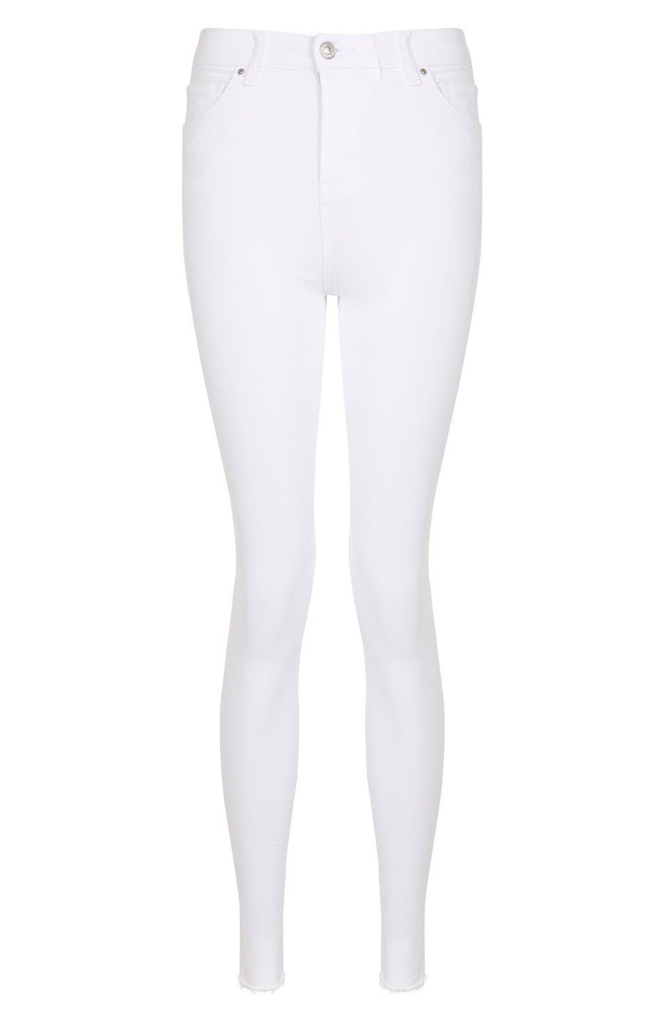 Alternate Image 4  - Topshop Jamie Raw Hem Skinny Jeans