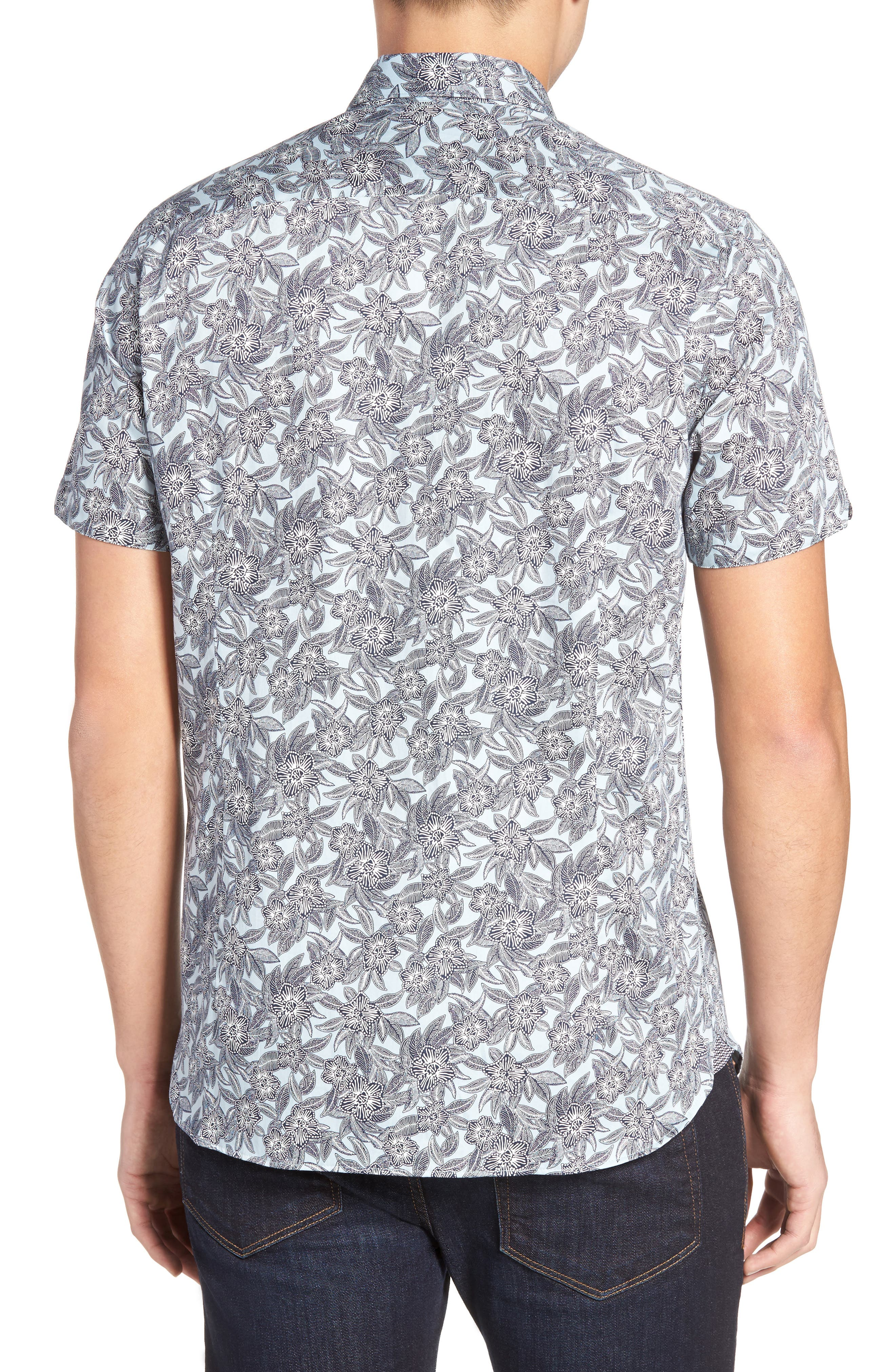 Alternate Image 2  - Ted Baker London Kryko Extra Slim Fit Print Sport Shirt