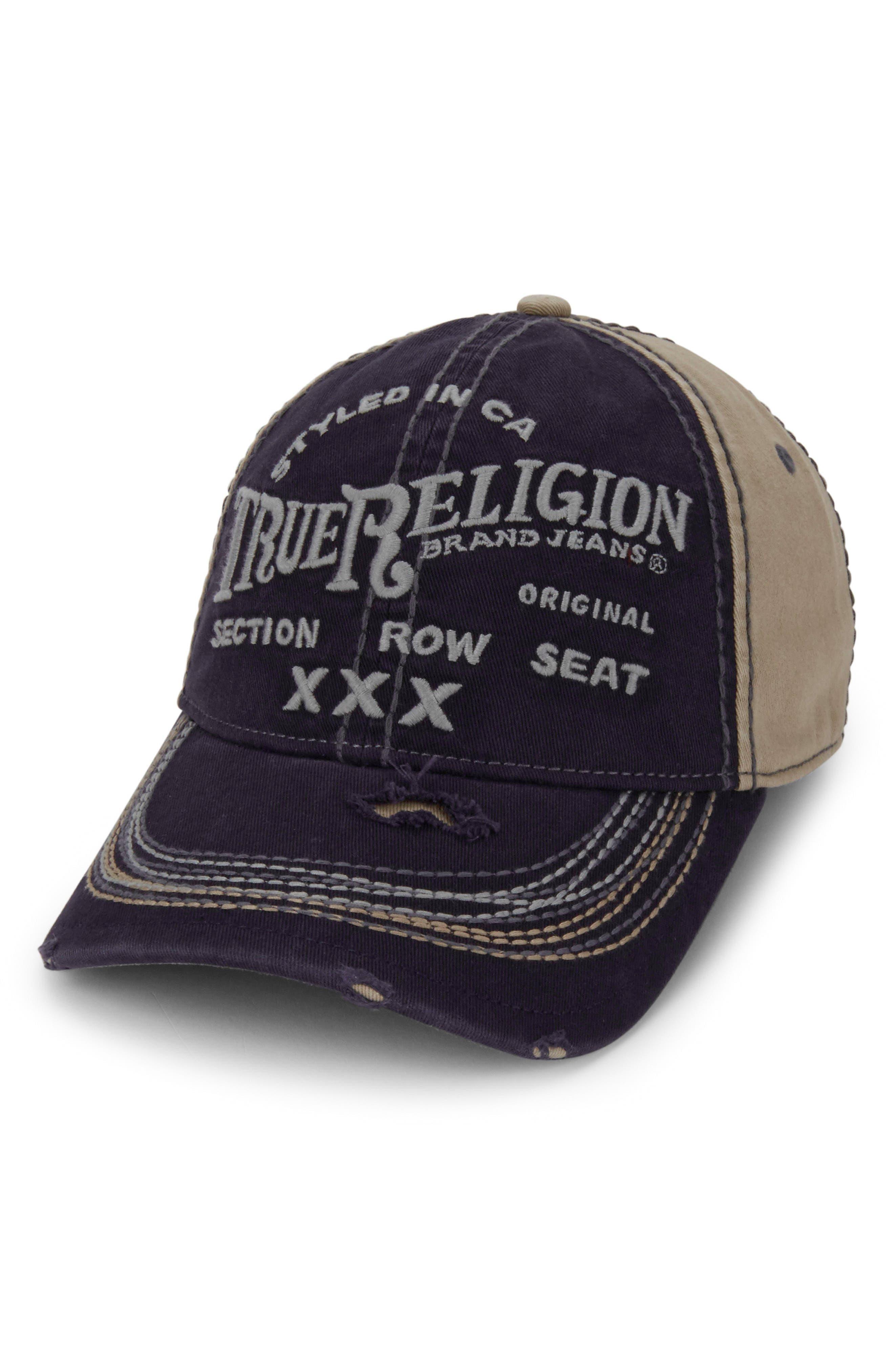 'Triple X' Baseball Cap,                         Main,                         color, Navy