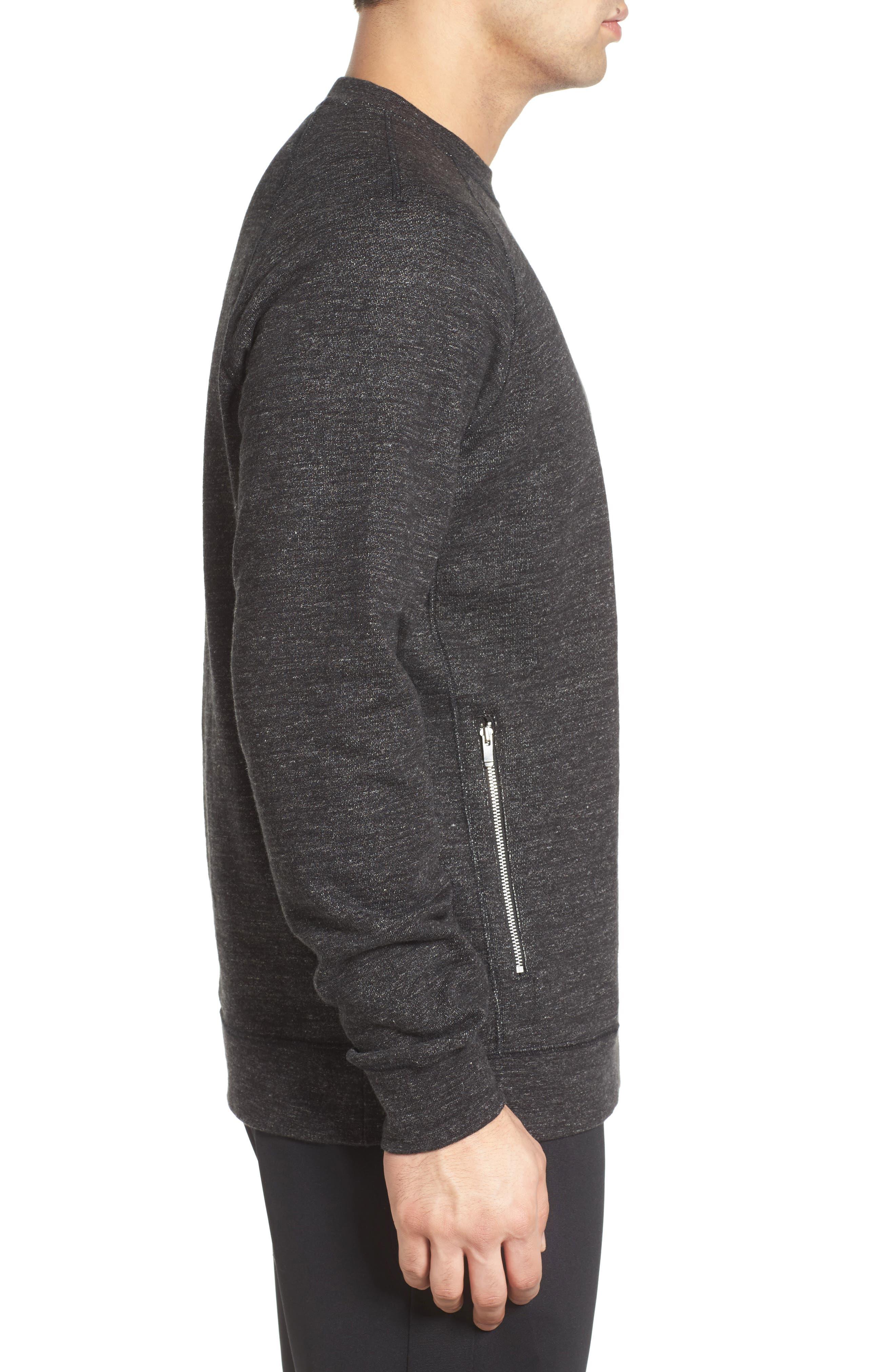 Alternate Image 3  - Nike Legacy Raglan Crewneck Sweatshirt