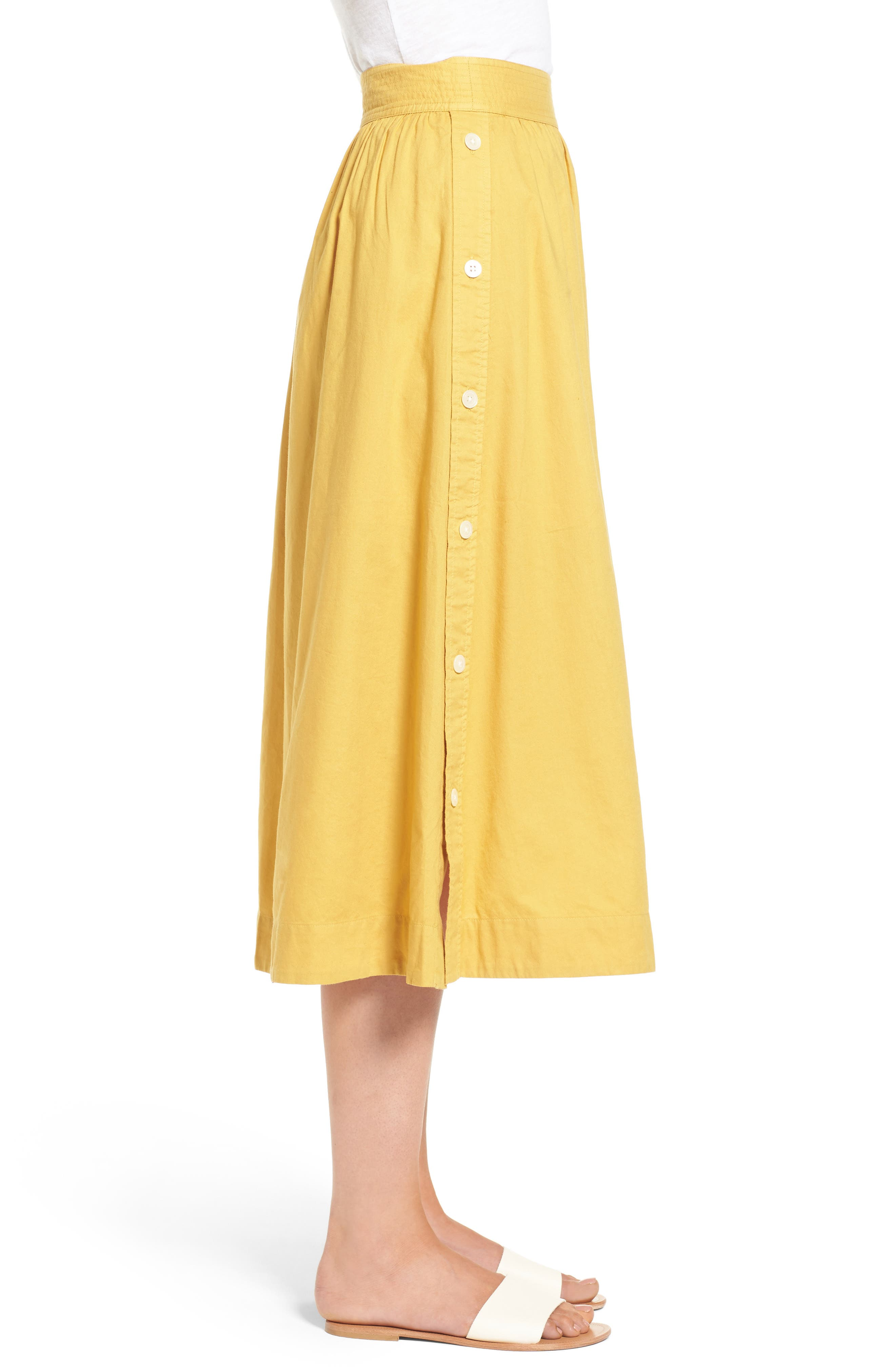 Alternate Image 3  - Madewell Side Button Midi Skirt
