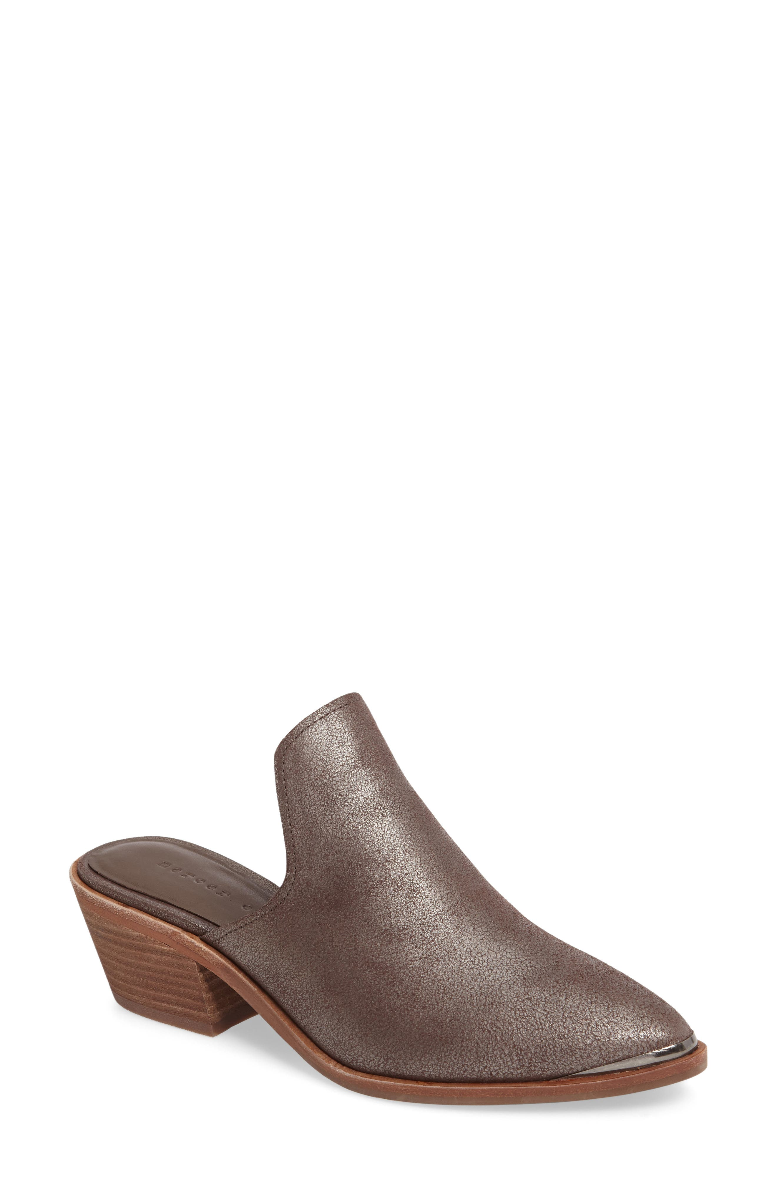 Layitonme Mule,                             Main thumbnail 1, color,                             Bronze Leather