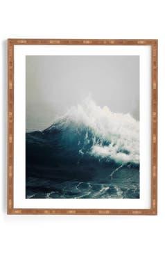 Deny designs sea wave framed wall art