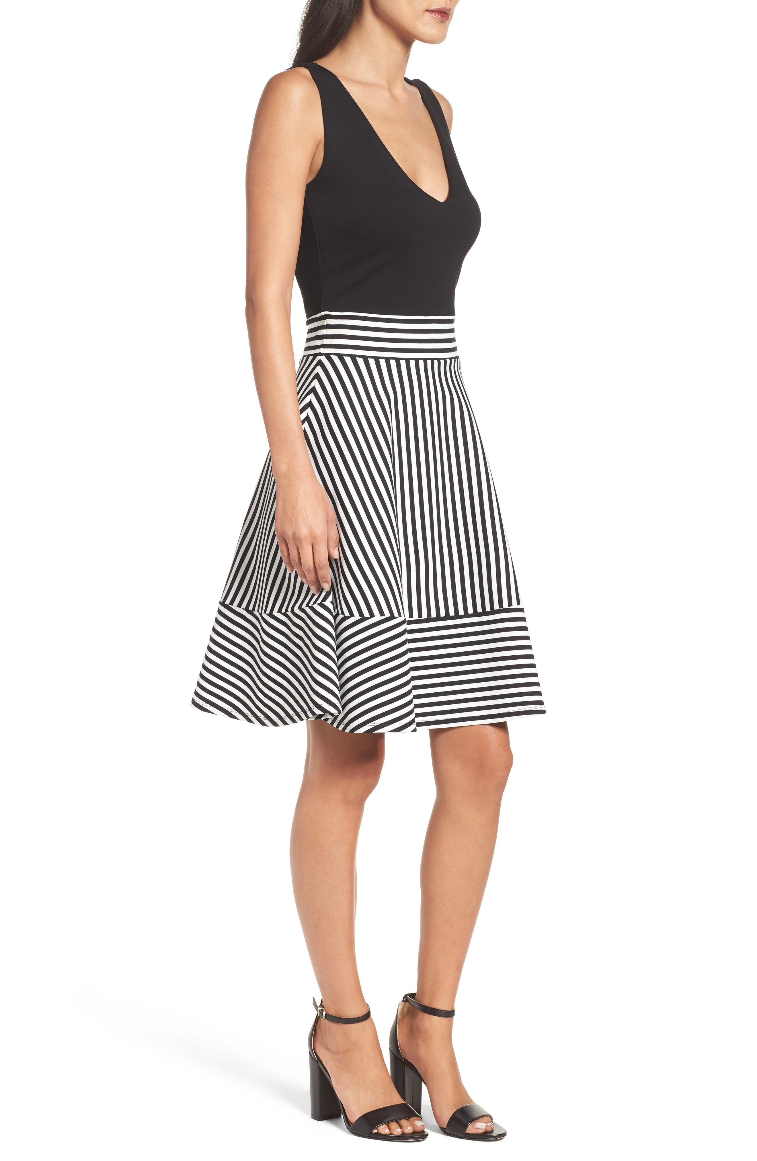 Alternate Image 3  - Felicity & Coco Lala Stripe Fit & Flare Dress (Nordstrom Exclusive)