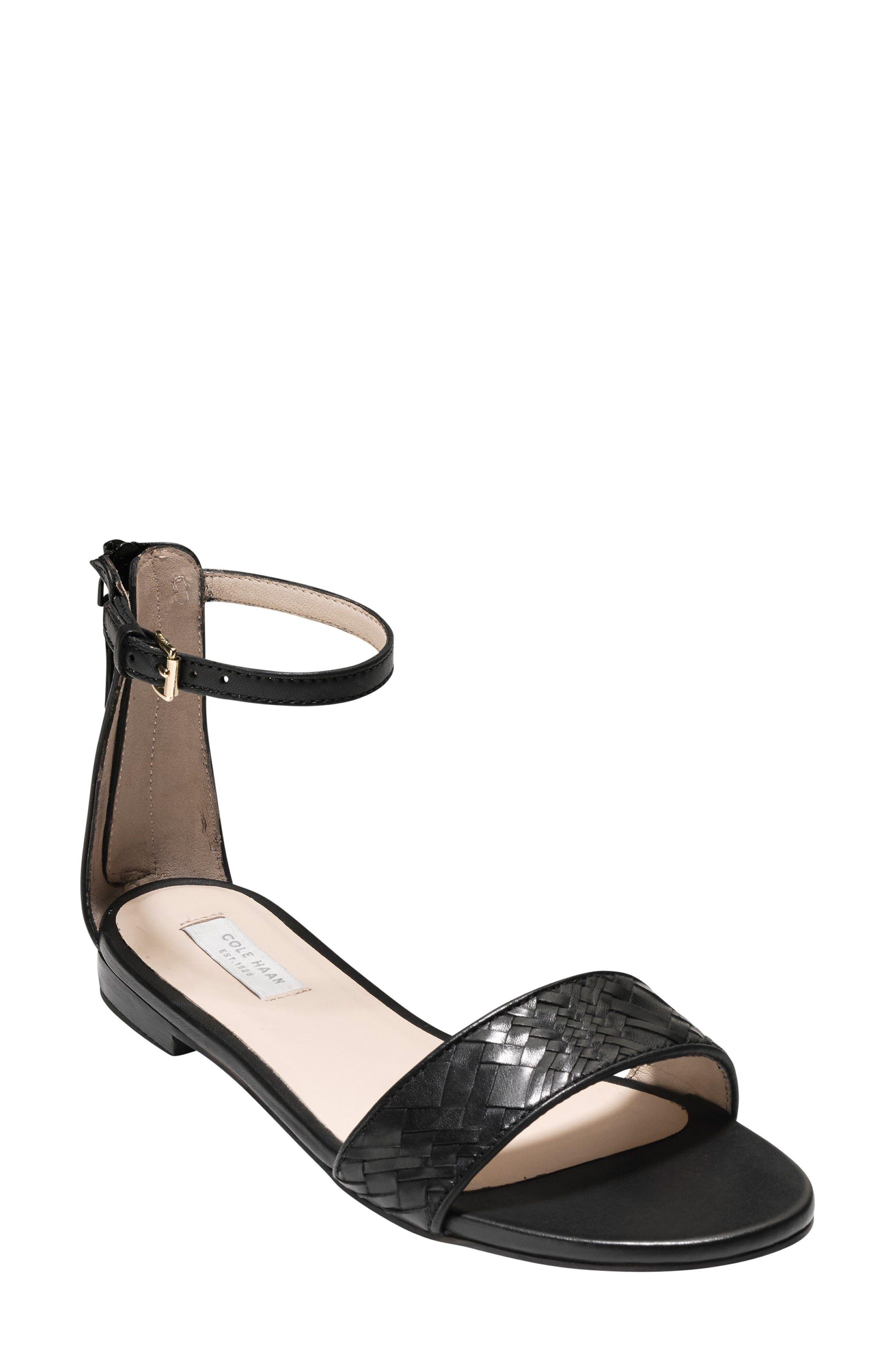 Genevieve Sandal,                         Main,                         color, Black/ Black Leather