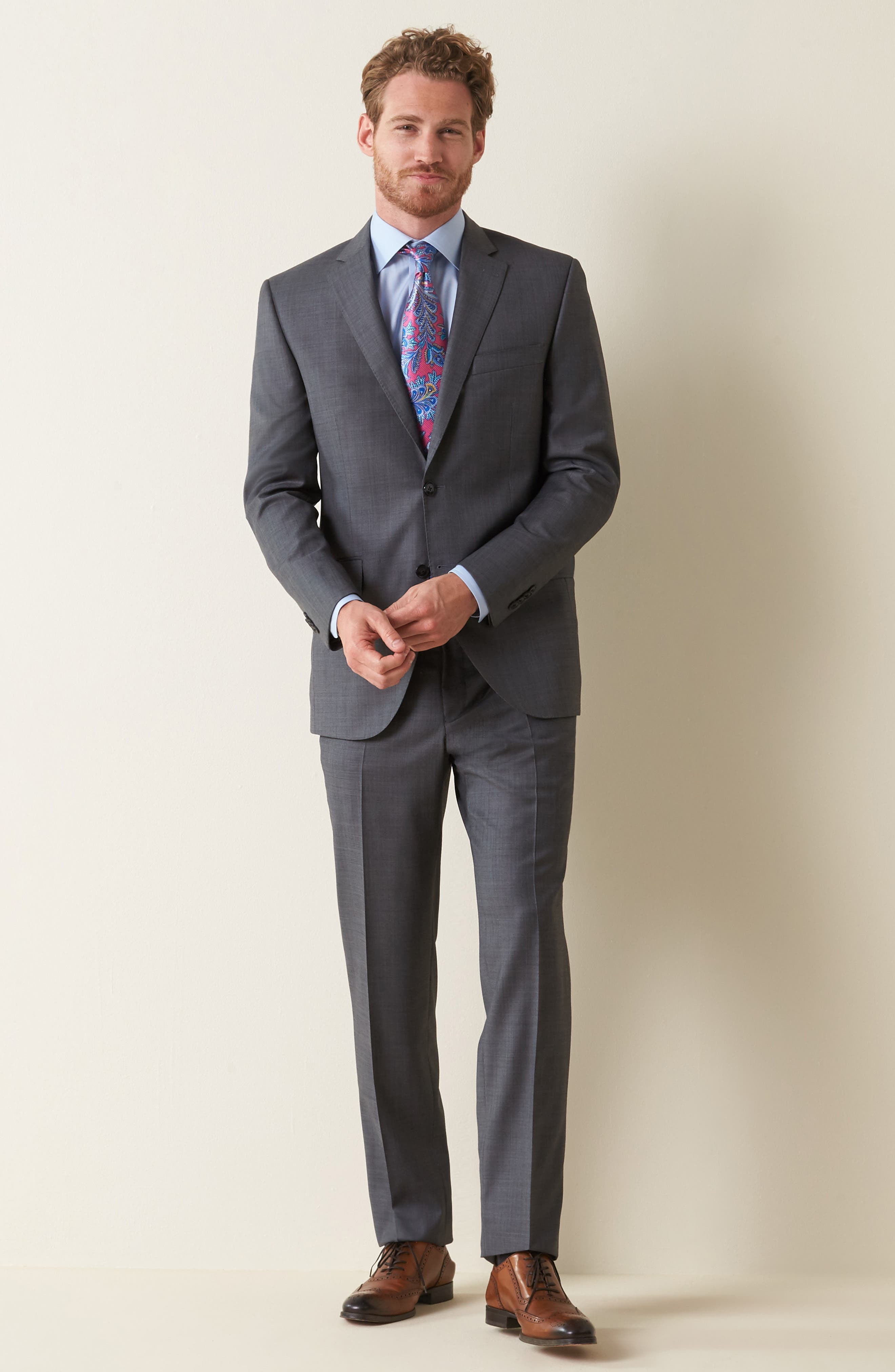 Classic Fit Solid Wool Suit,                             Alternate thumbnail 9, color,                             Charcoal