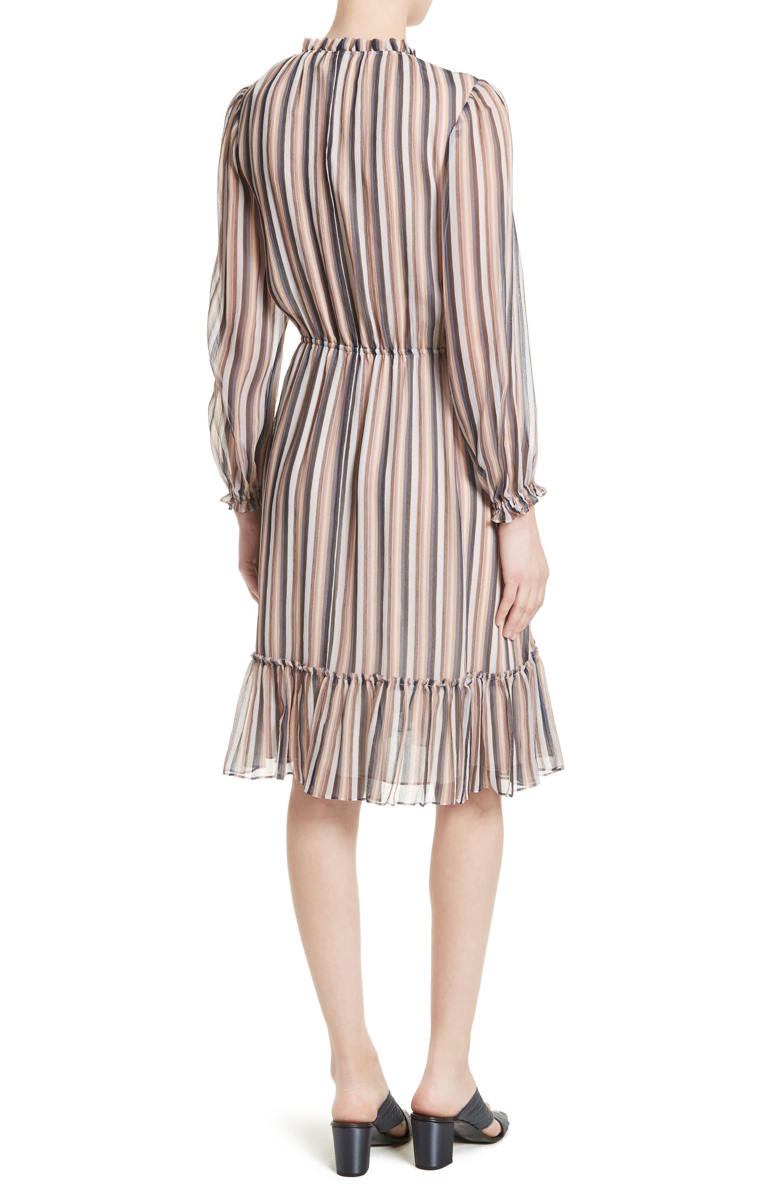 Alternate Image 2  - Derek Lam 10 Crosby Stripe Ruffle Dress
